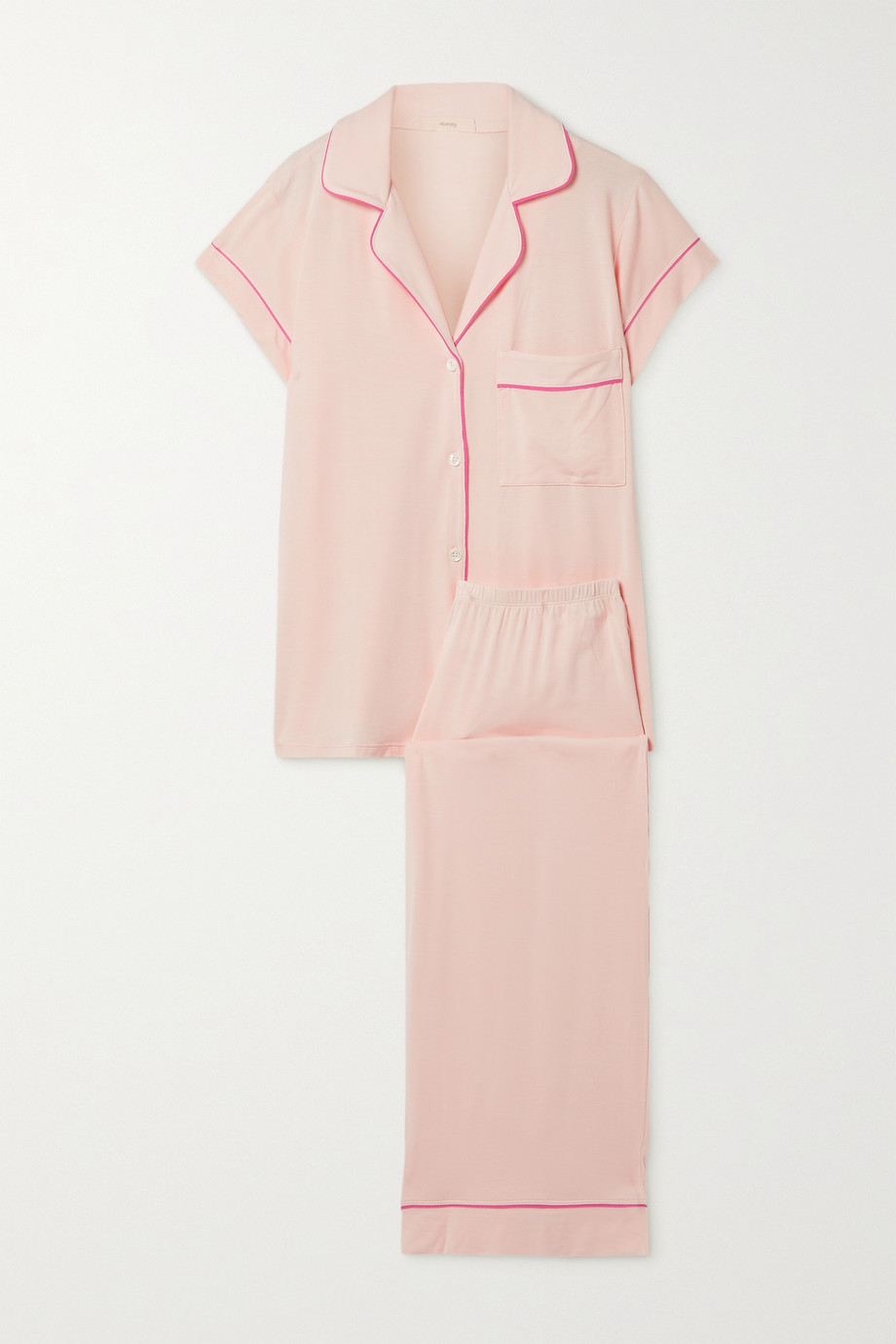 EBERJEY Gisele piped stretch-modal pajama set
