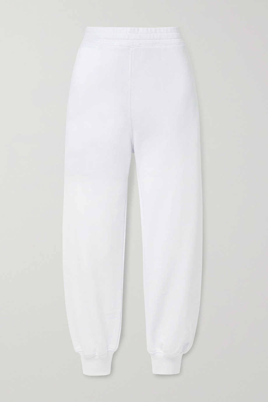 ALEXANDER MCQUEEN Printed cotton-jersey track pants