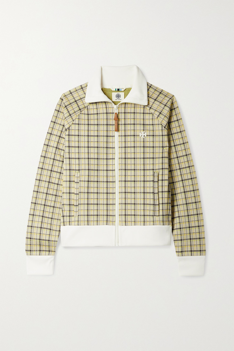 TORY SPORT Checked tech-jersey track jacket