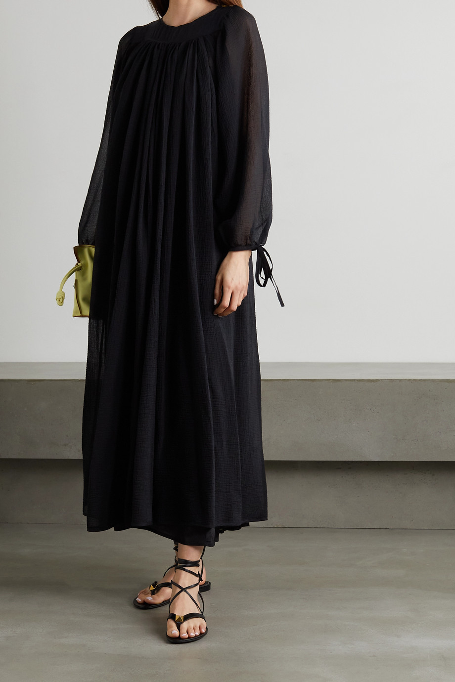 LOEWE + Paula's Ibiza cotton and silk-blend crepon maxi dress
