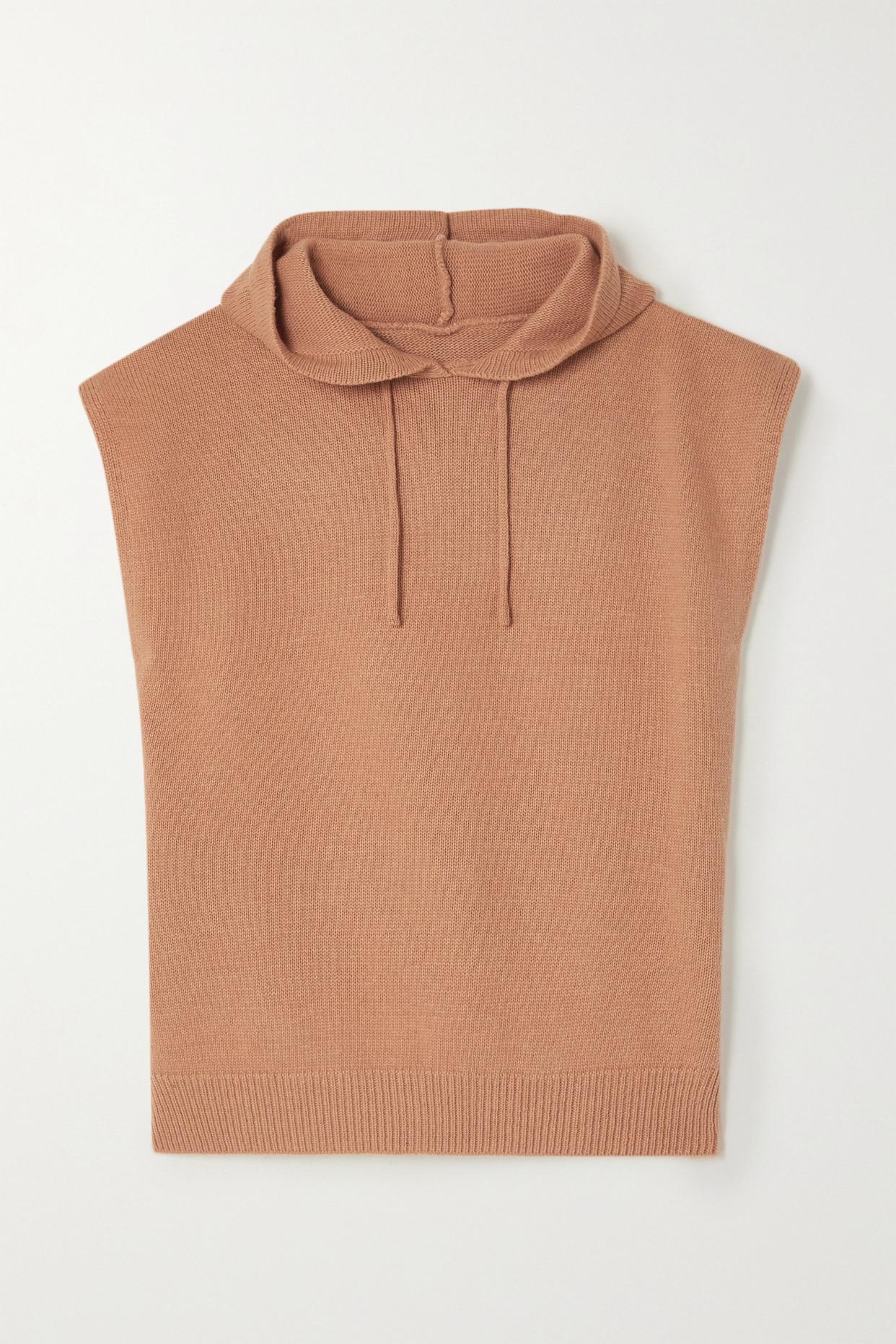 FRANKIE SHOP - Juno 羊毛混纺帽衫 - 棕色 - M/L