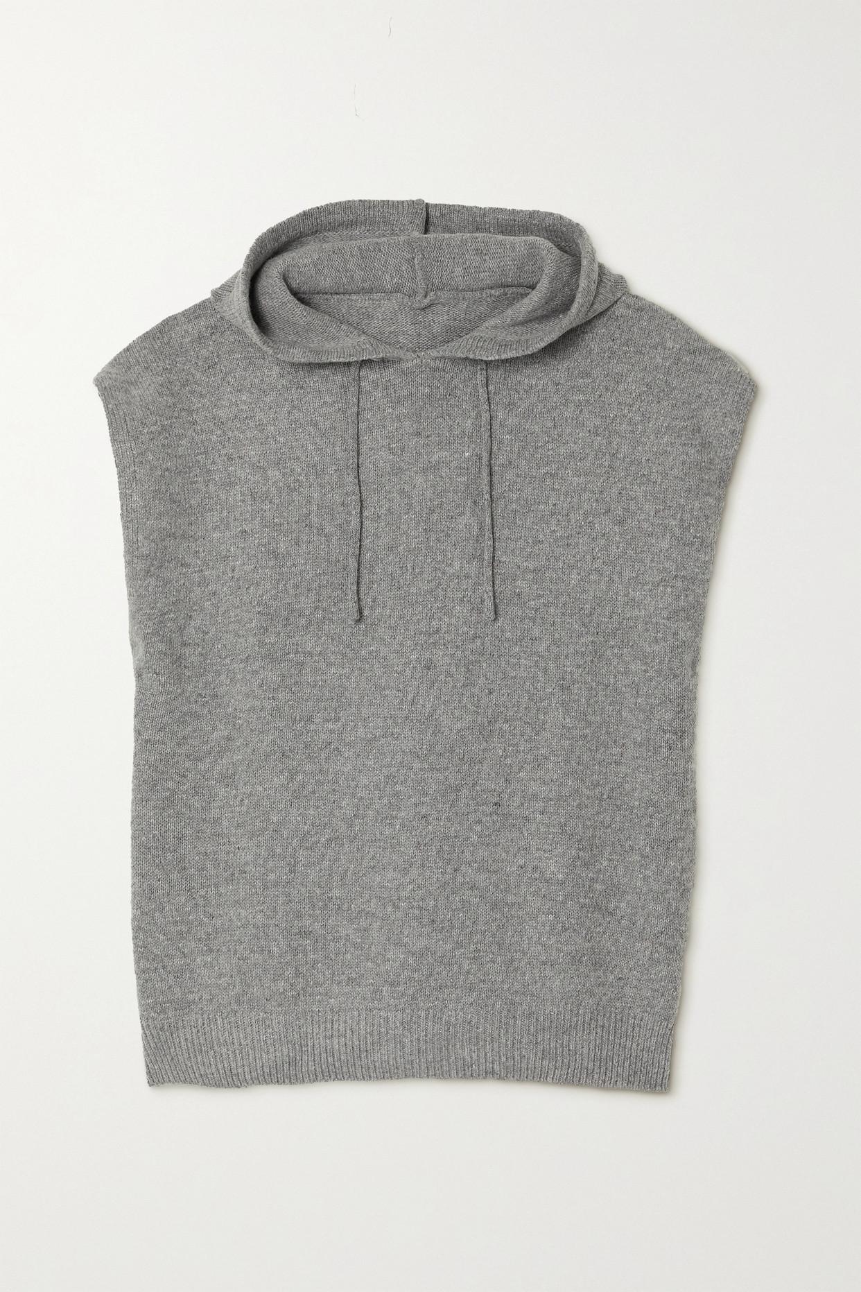 FRANKIE SHOP - Juno 羊毛混纺帽衫 - 灰色 - M/L