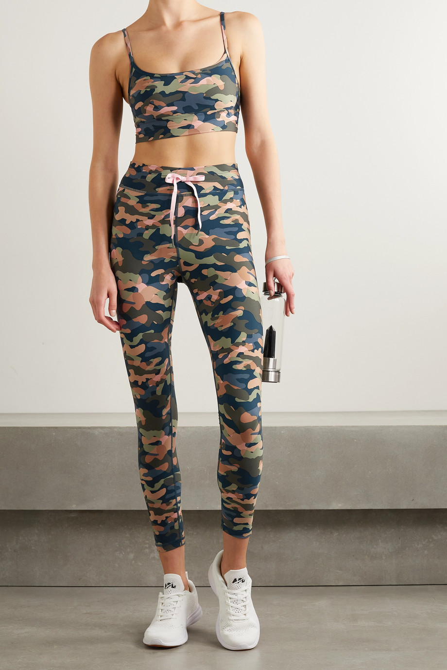 THE UPSIDE Himalaya camouflage-print stretch leggings