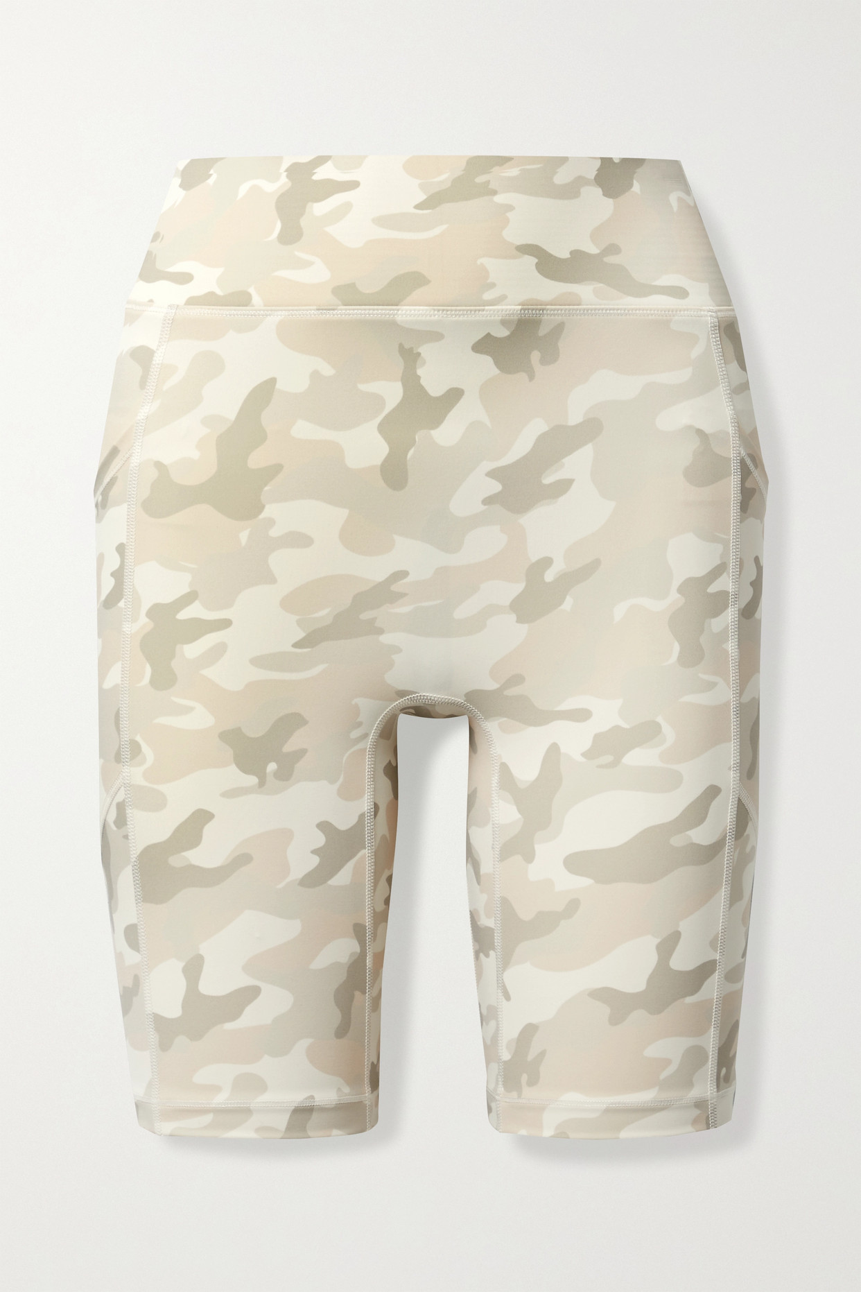 All Access Center Stage Camouflage-print Stretch Shorts In Neutrals