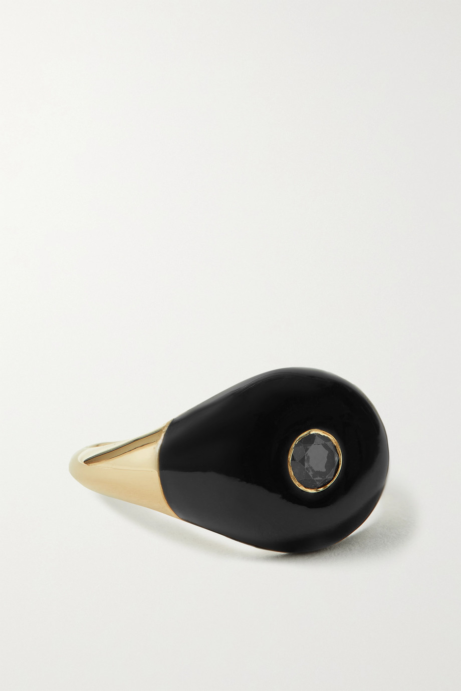 CHARMS COMPANY Les Bonbons 14-karat gold, enamel and diamond ring