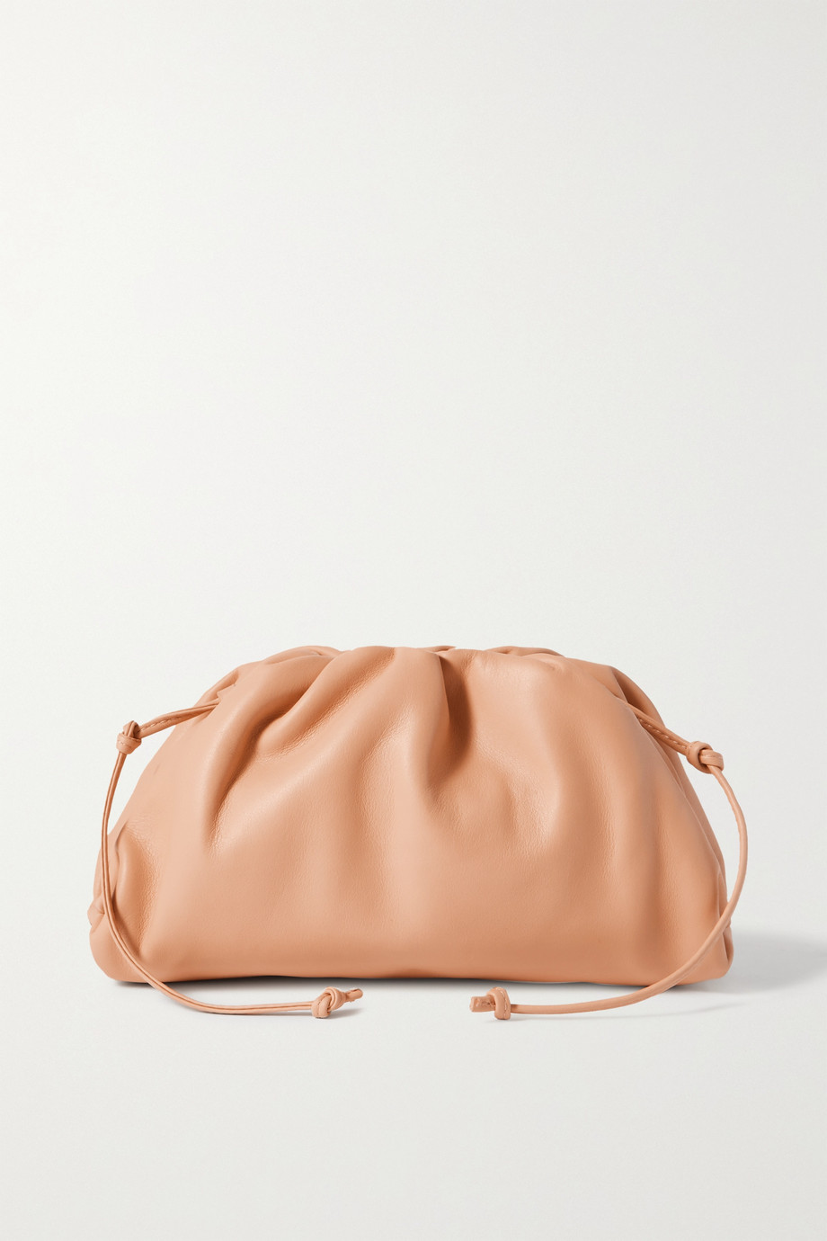 BOTTEGA VENETA The Pouch small gathered leather clutch
