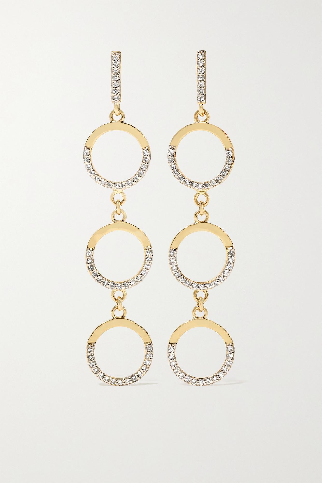 Mateo 14-karat Gold Diamond Earrings