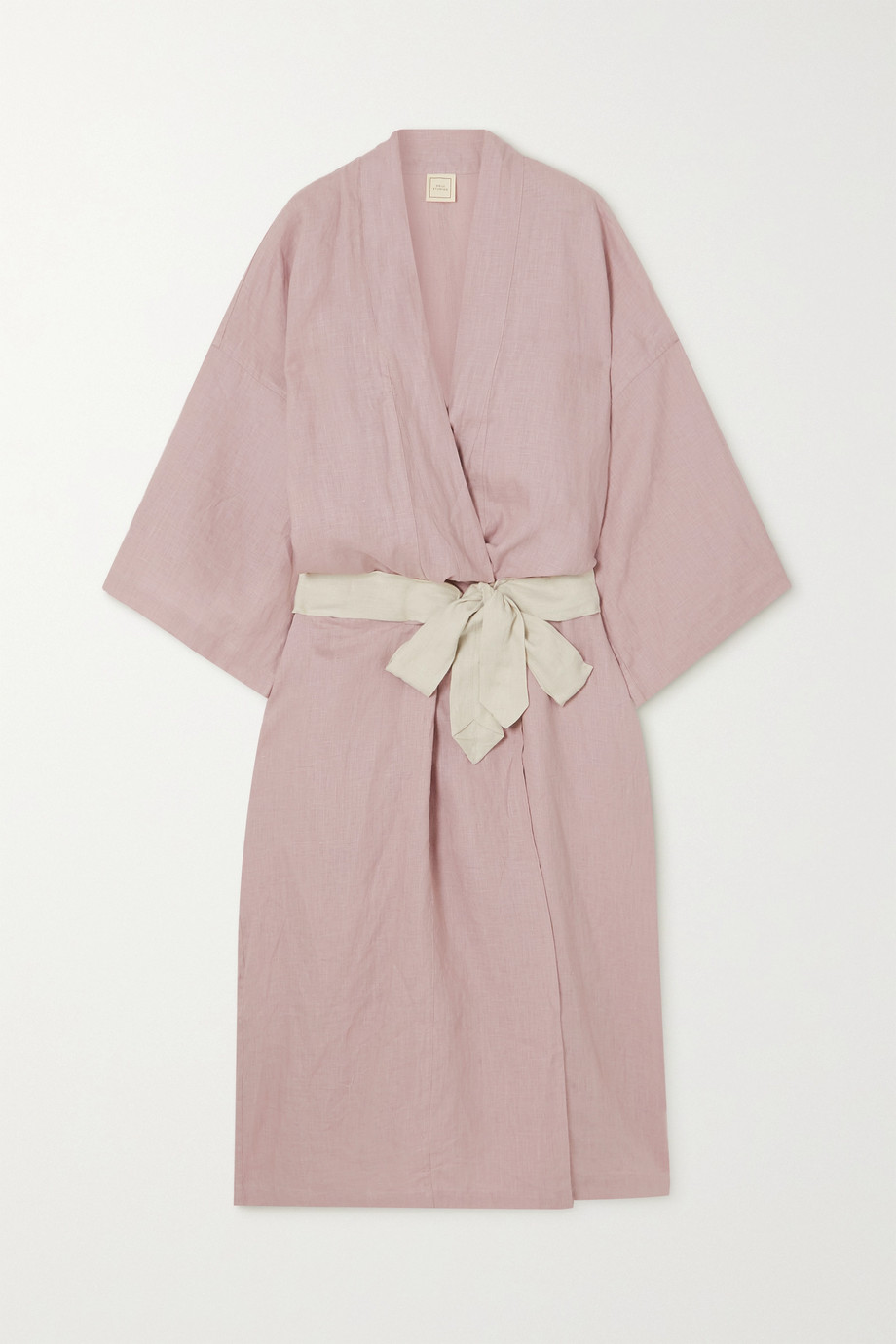 DEIJI STUDIOS Washed-linen robe