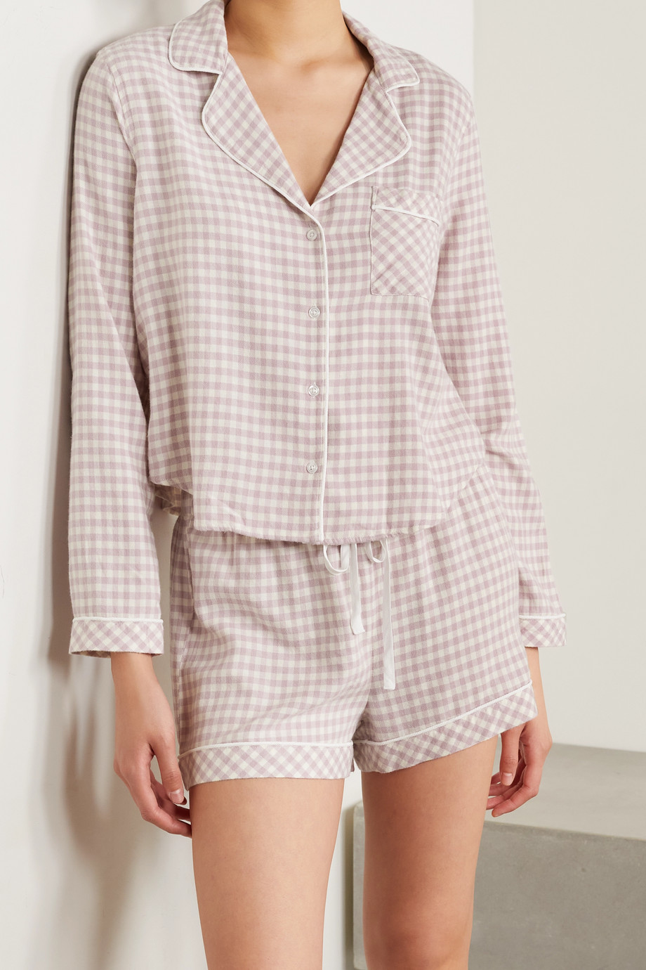 RAILS Kellen gingham flannel pajama set