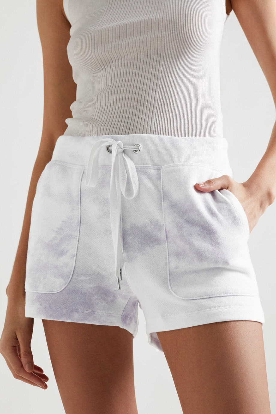 RAILS Robin tie-dyed cotton and modal-blend shorts