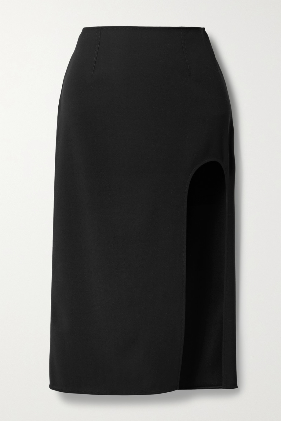MUGLER Cutout wool-twill skirt