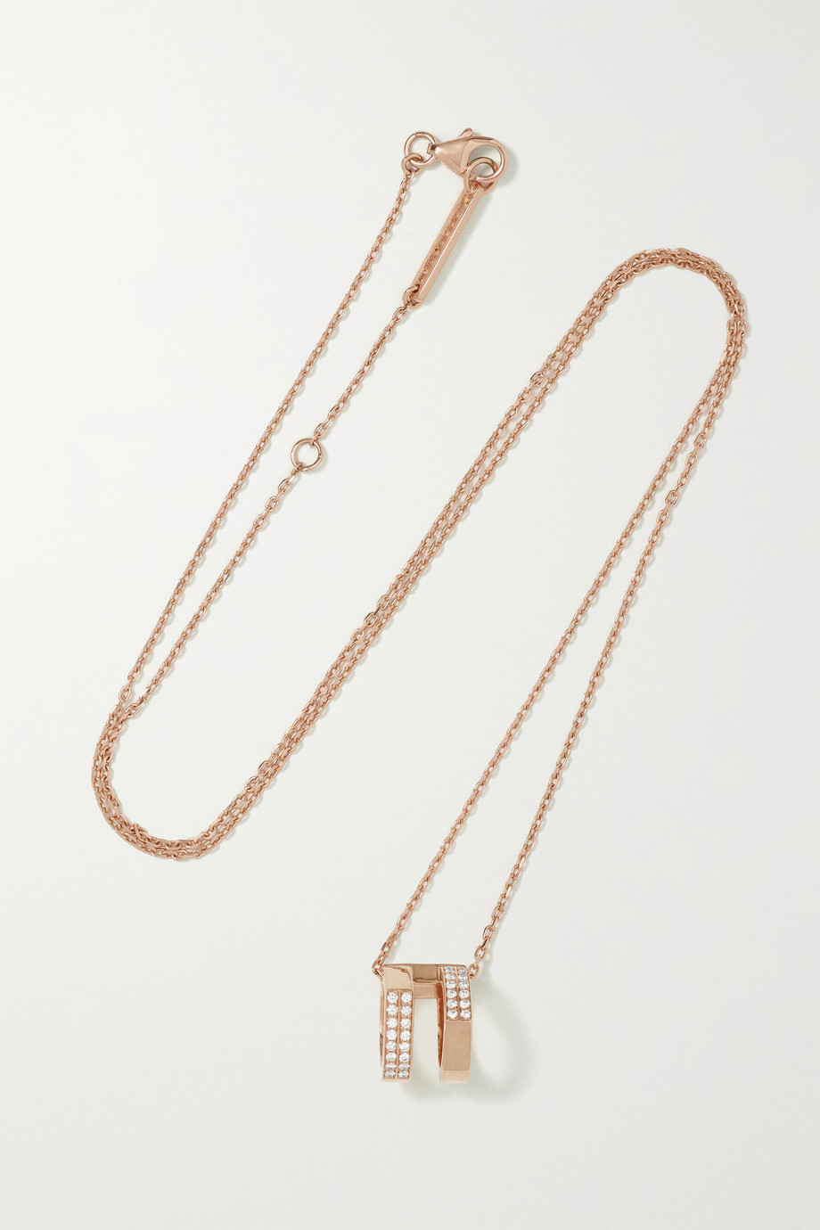 REPOSSI Antifer 18-karat rose gold diamond necklace