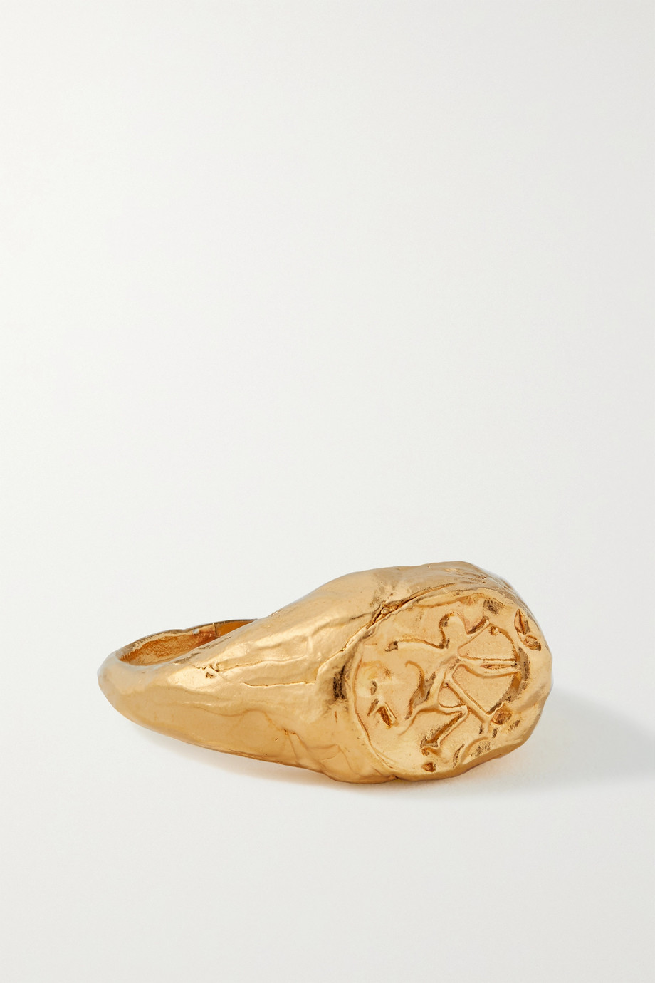 ALIGHIERI Sagittarius gold-plated ring