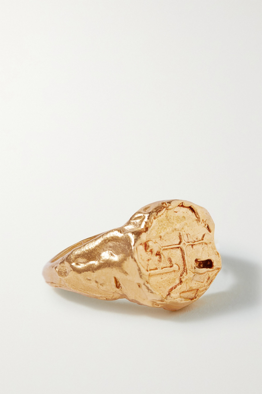 ALIGHIERI Libra gold-plated ring