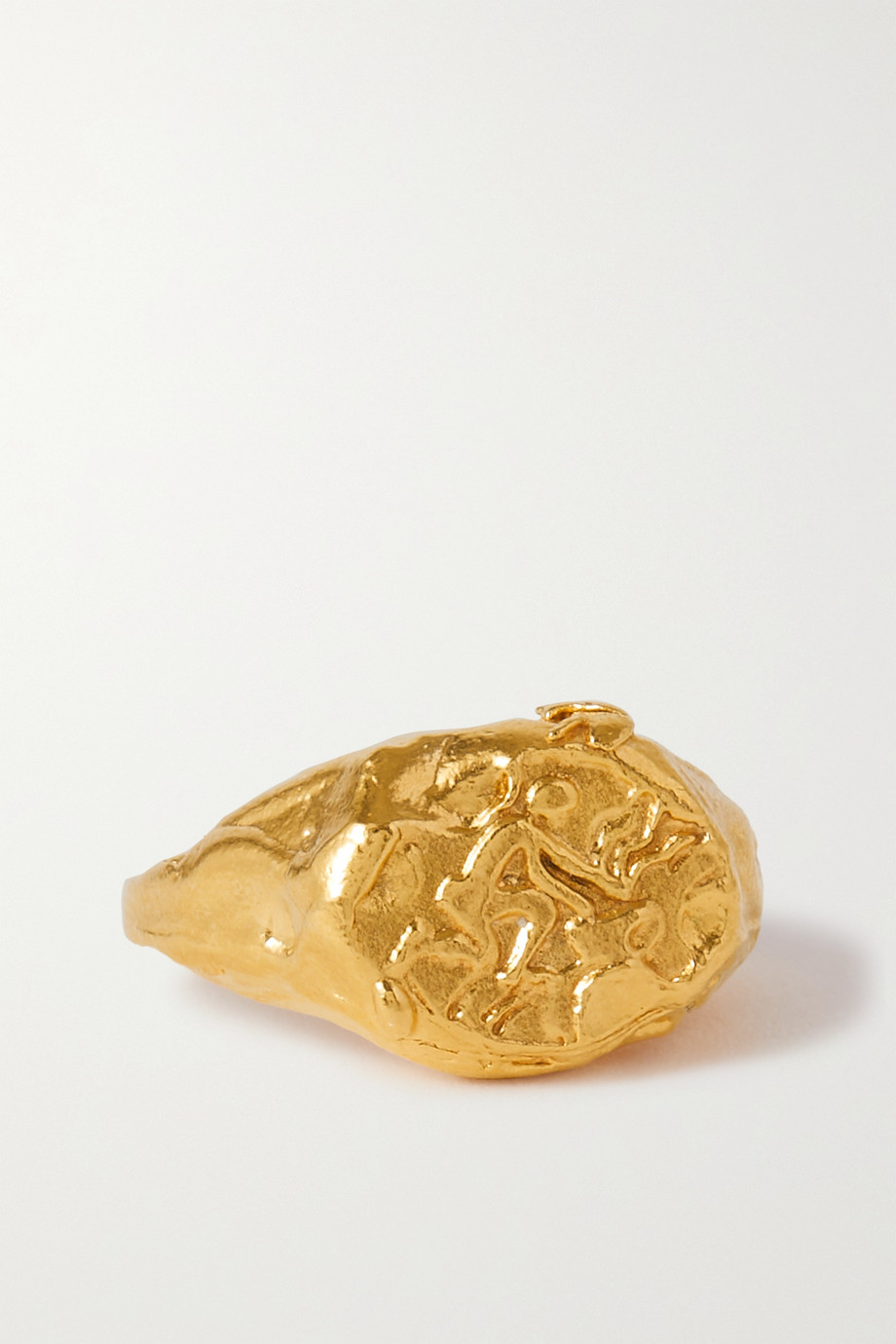 ALIGHIERI Aquarius gold-plated ring