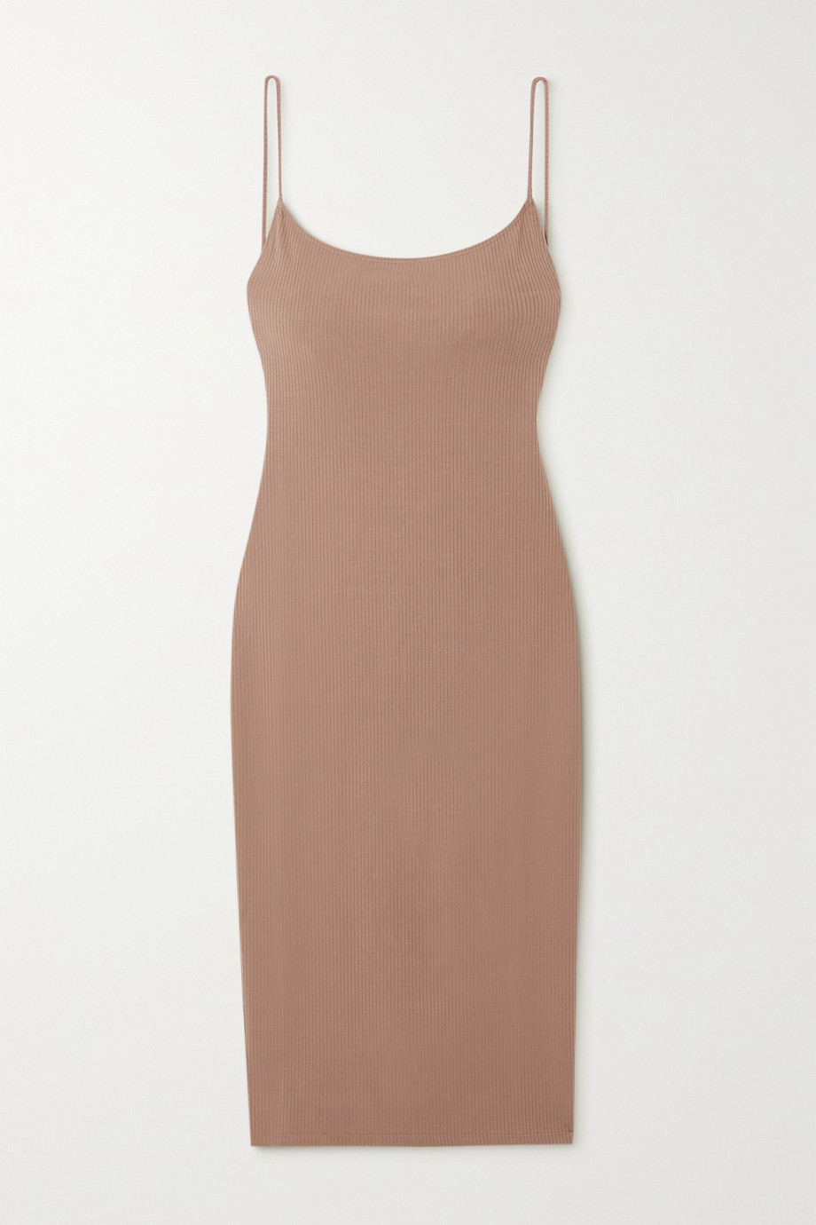 REFORMATION Kelsee open-back ribbed stretch-TENCEL Lyocell midi dress