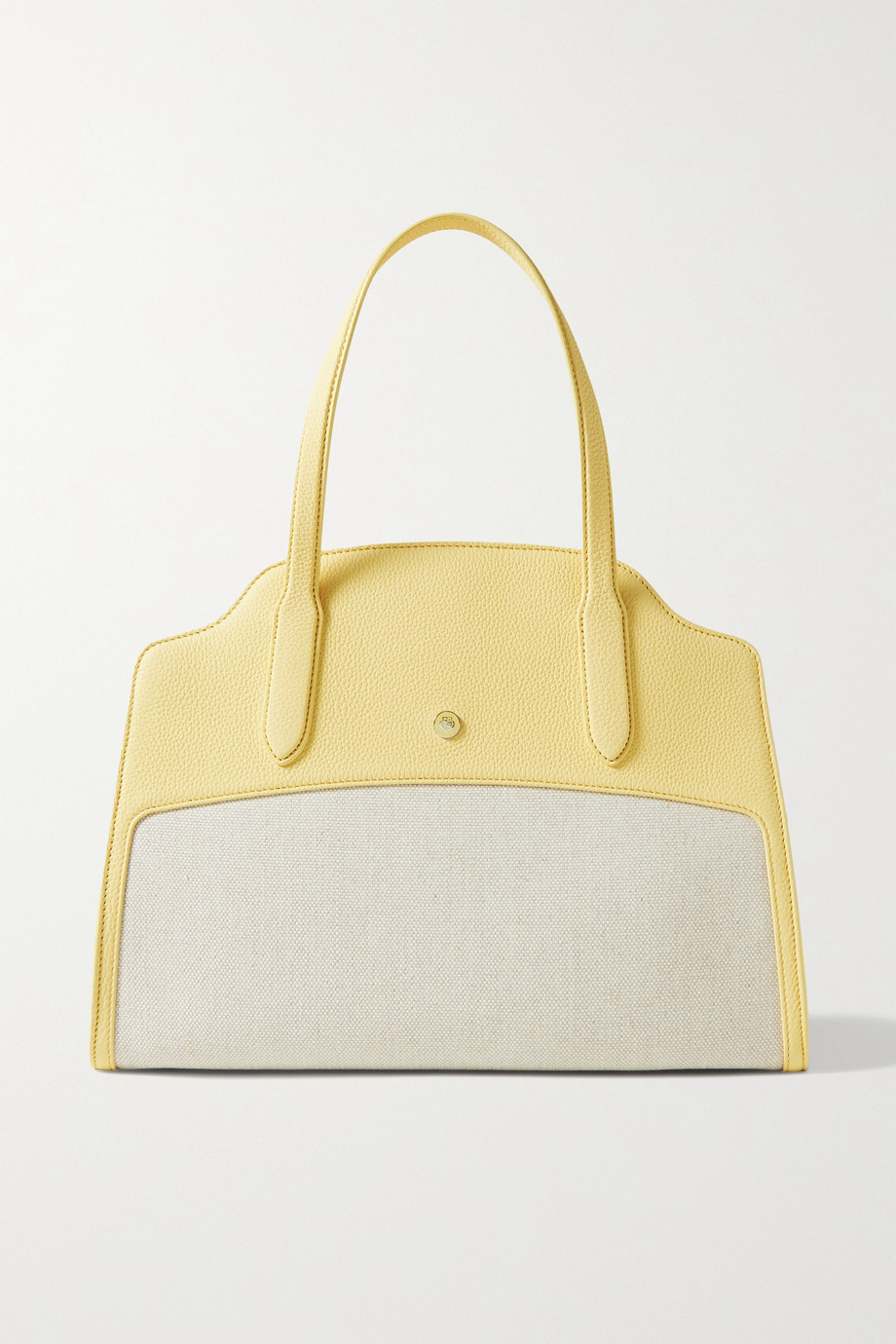 LORO PIANA Sesia large textured-leather and canvas tote