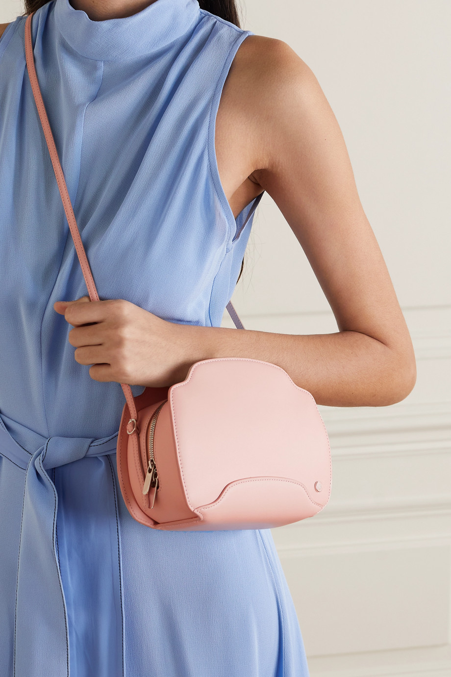 LORO PIANA Sesia leather shoulder bag