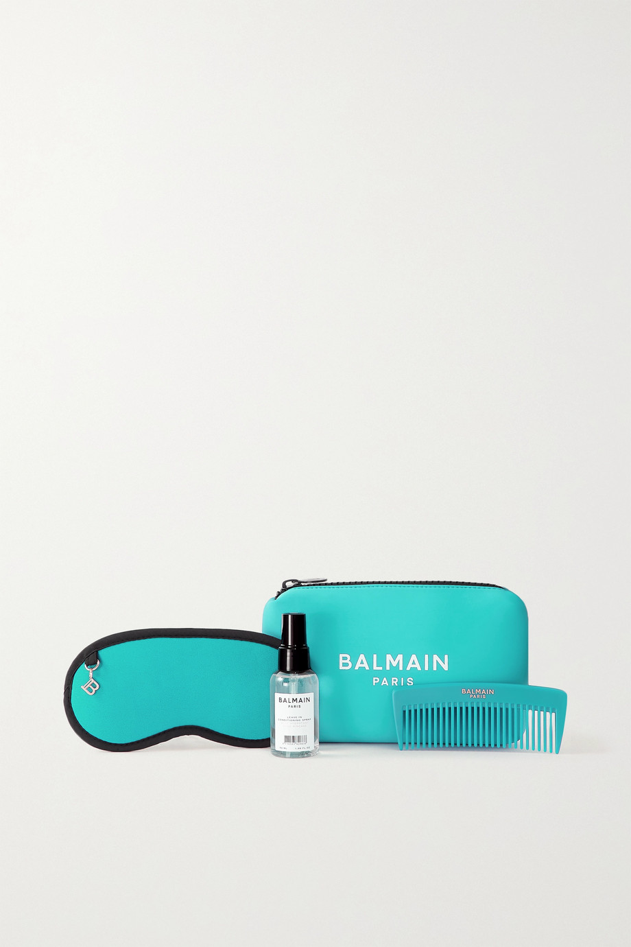 BALMAIN PARIS HAIR COUTURE Cosmetic Bag Set - Turquoise