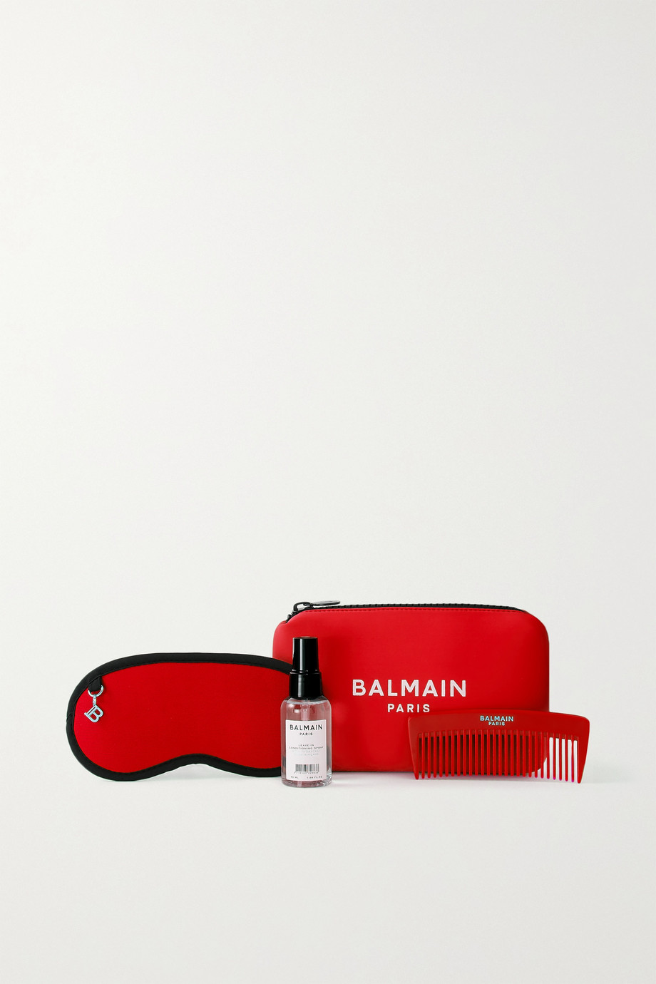 BALMAIN PARIS HAIR COUTURE Cosmetic Bag Set - Red