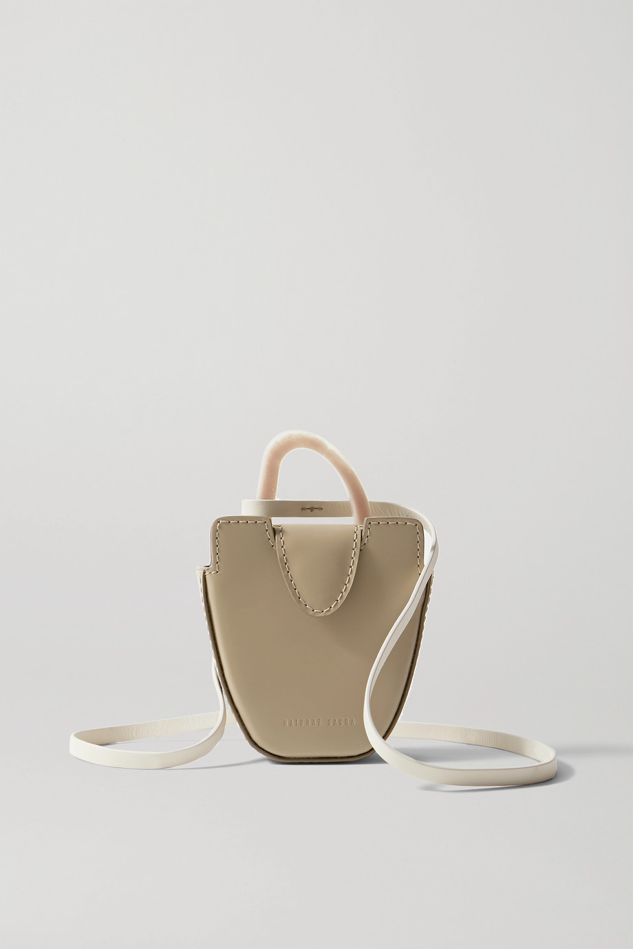 NATURAE SACRA + NET SUSTAIN Ourea mini leather and resin tote
