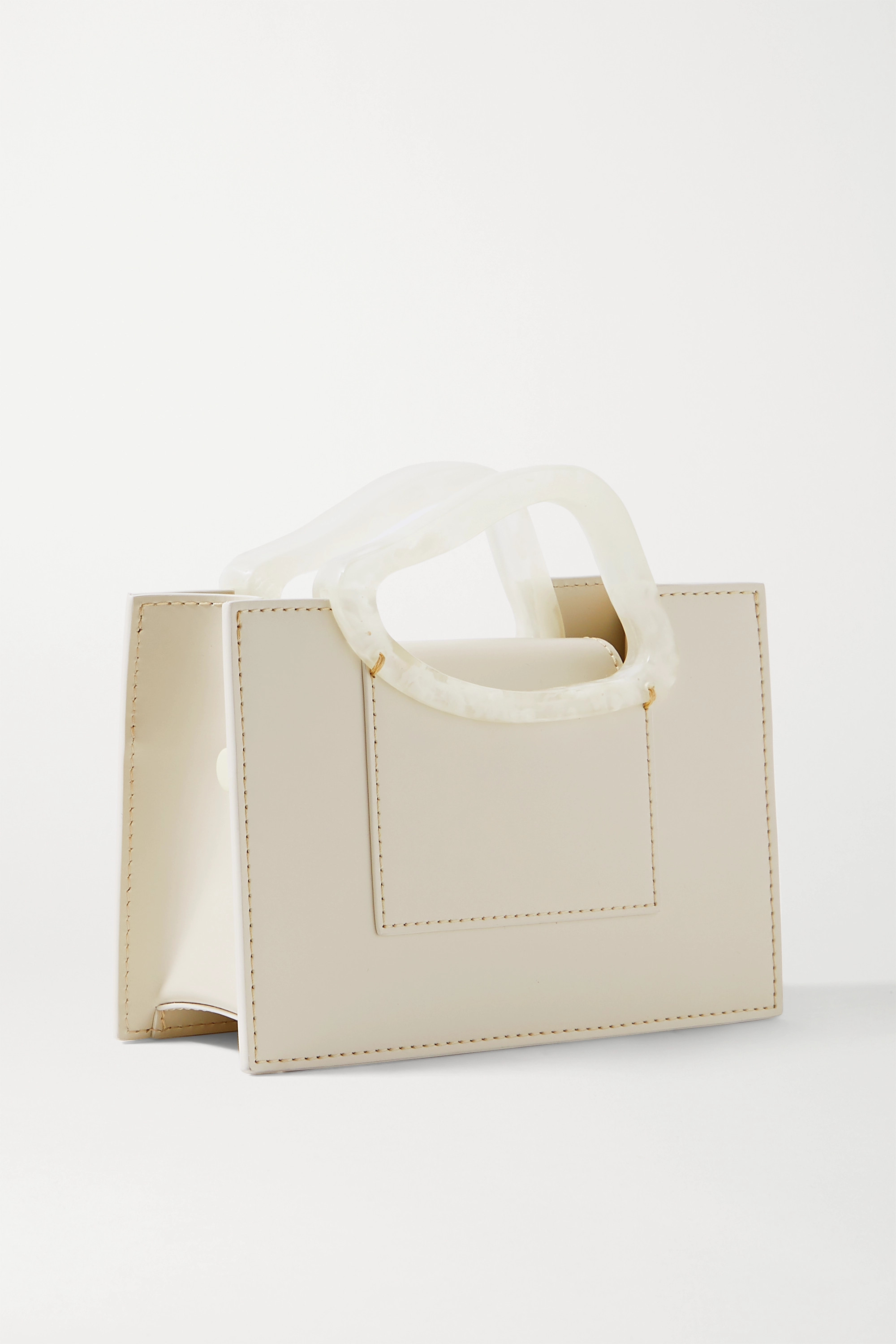 NATURAE SACRA + NET SUSTAIN Arp mini leather and resin tote