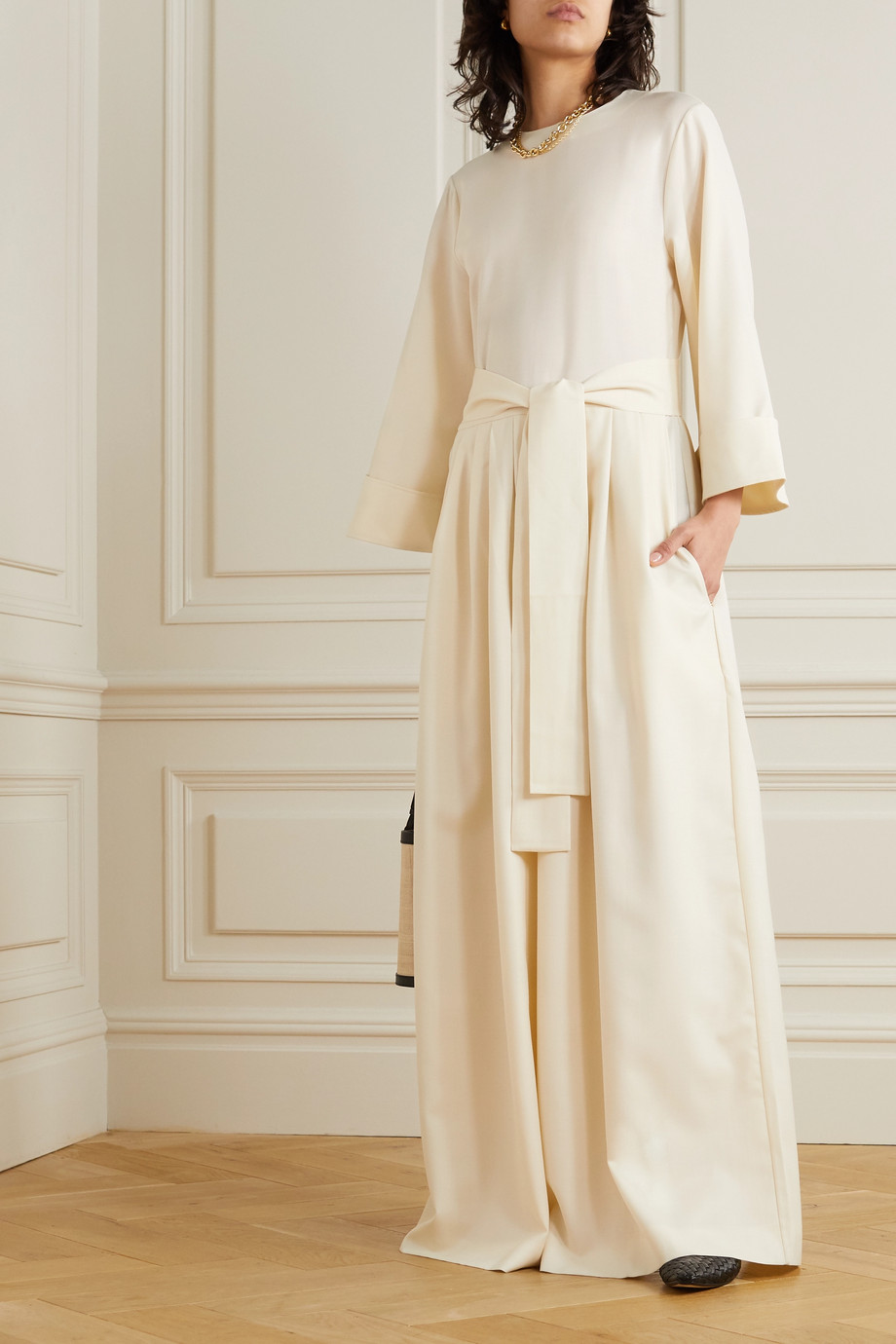 KING & TUCKFIELD Wool-twill jumpsuit