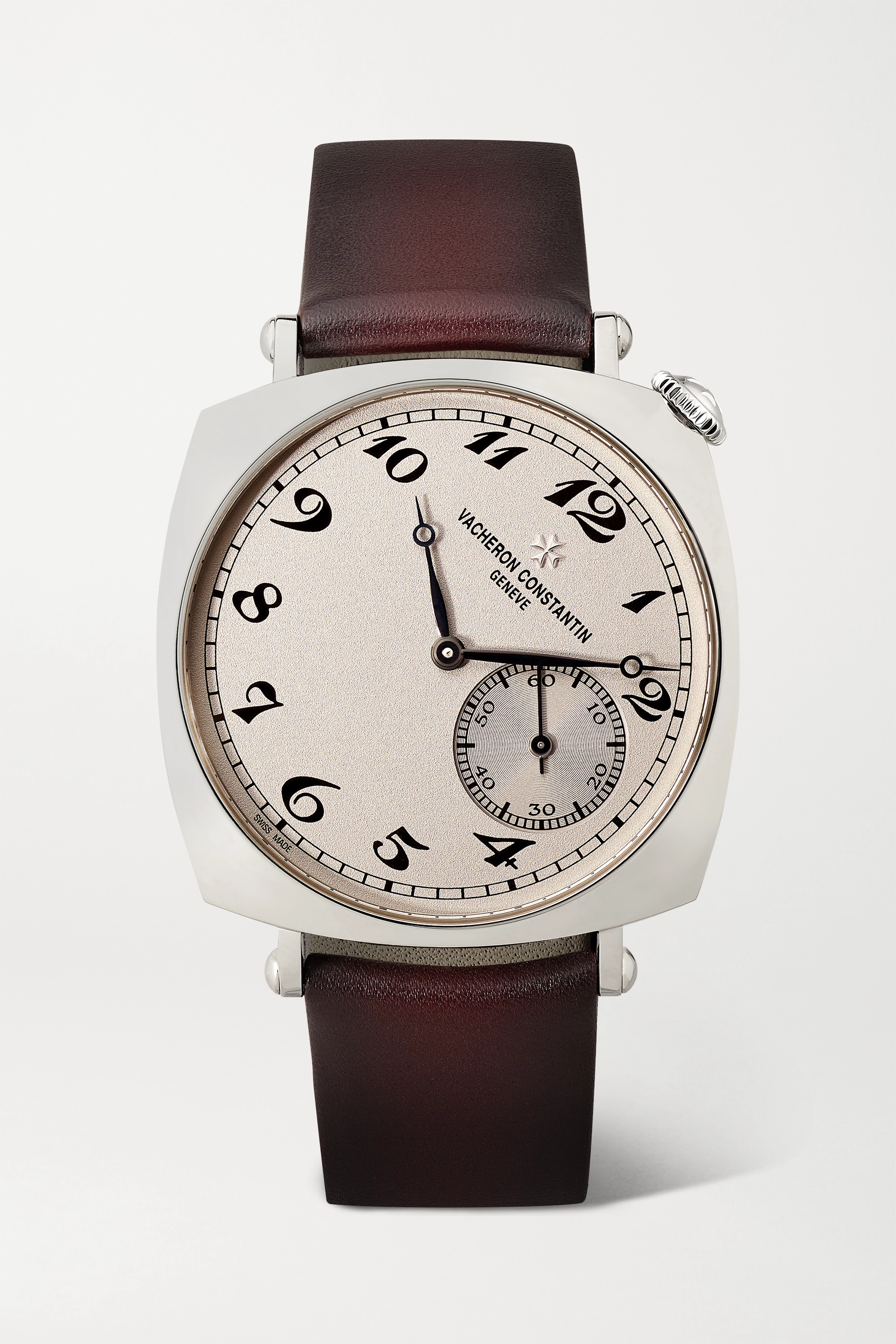 VACHERON CONSTANTIN Historiques American 1921 Hand-Wound 36.5mm 18-karat white gold and leather watch