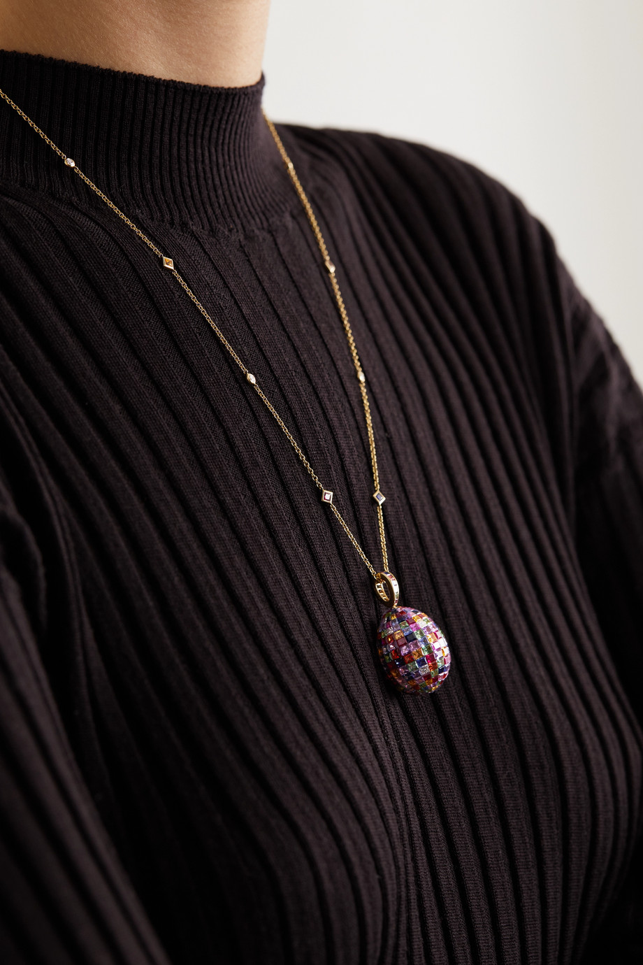 FABERGÉ Imperial 18-karat gold multi-stone necklace