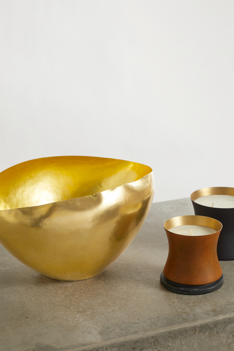 TOM DIXON Bash small hammered-brass bowl