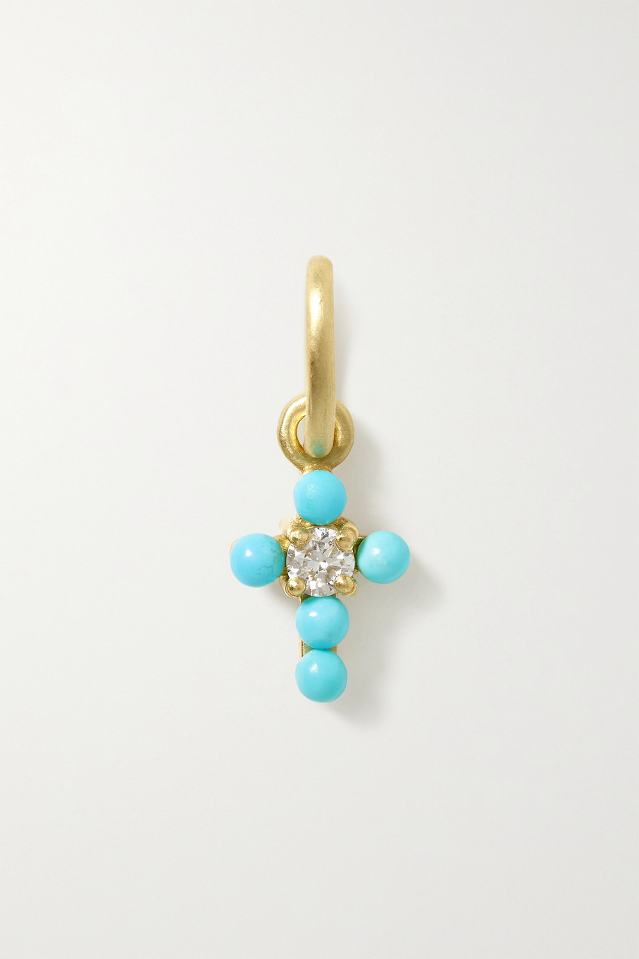IRENE NEUWIRTH Gumball 18-karat gold, turquoise and diamond pendant