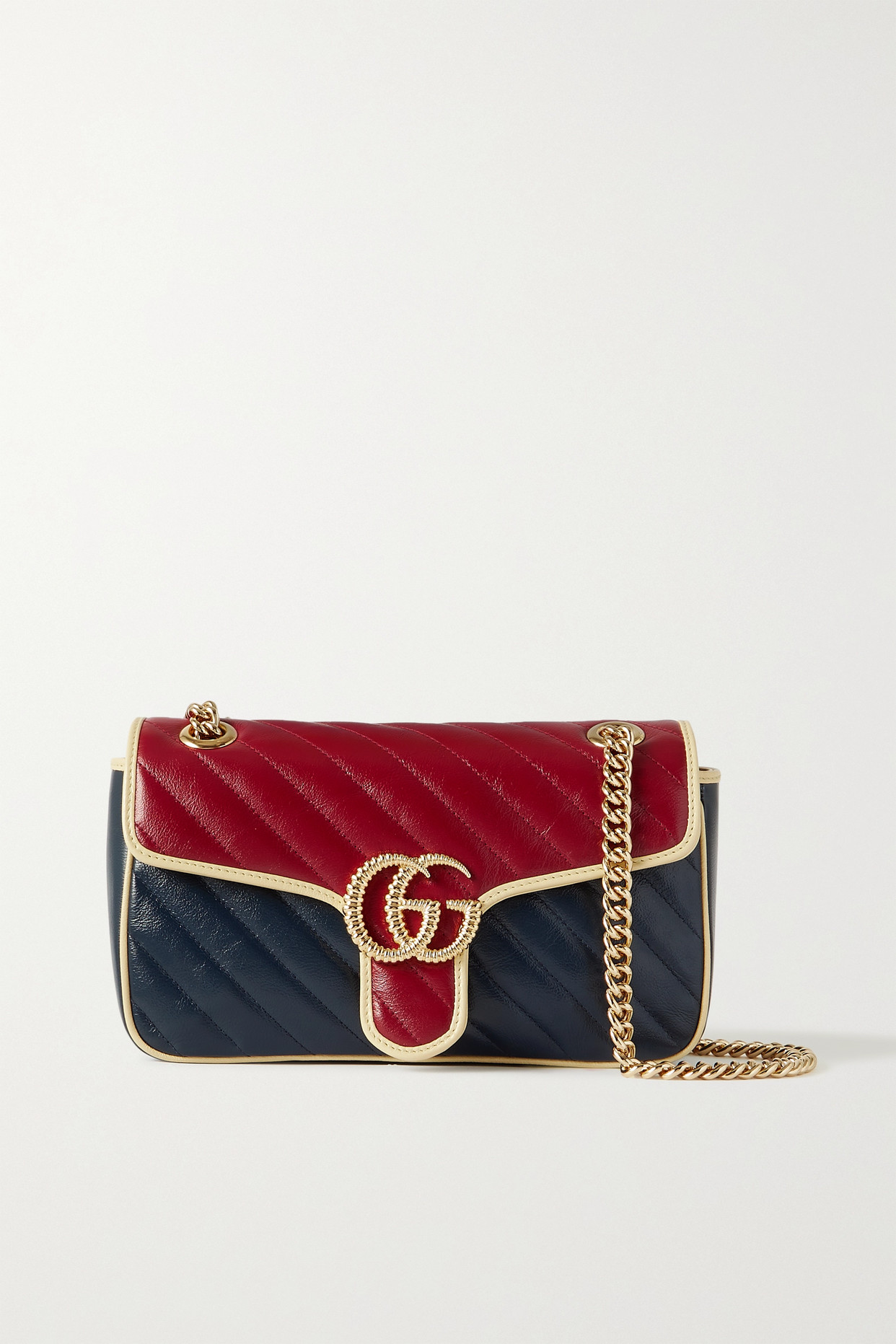 GUCCI - Gg Marmont 2.0 Small Quilted Leather Shoulder Bag - Purple - one size