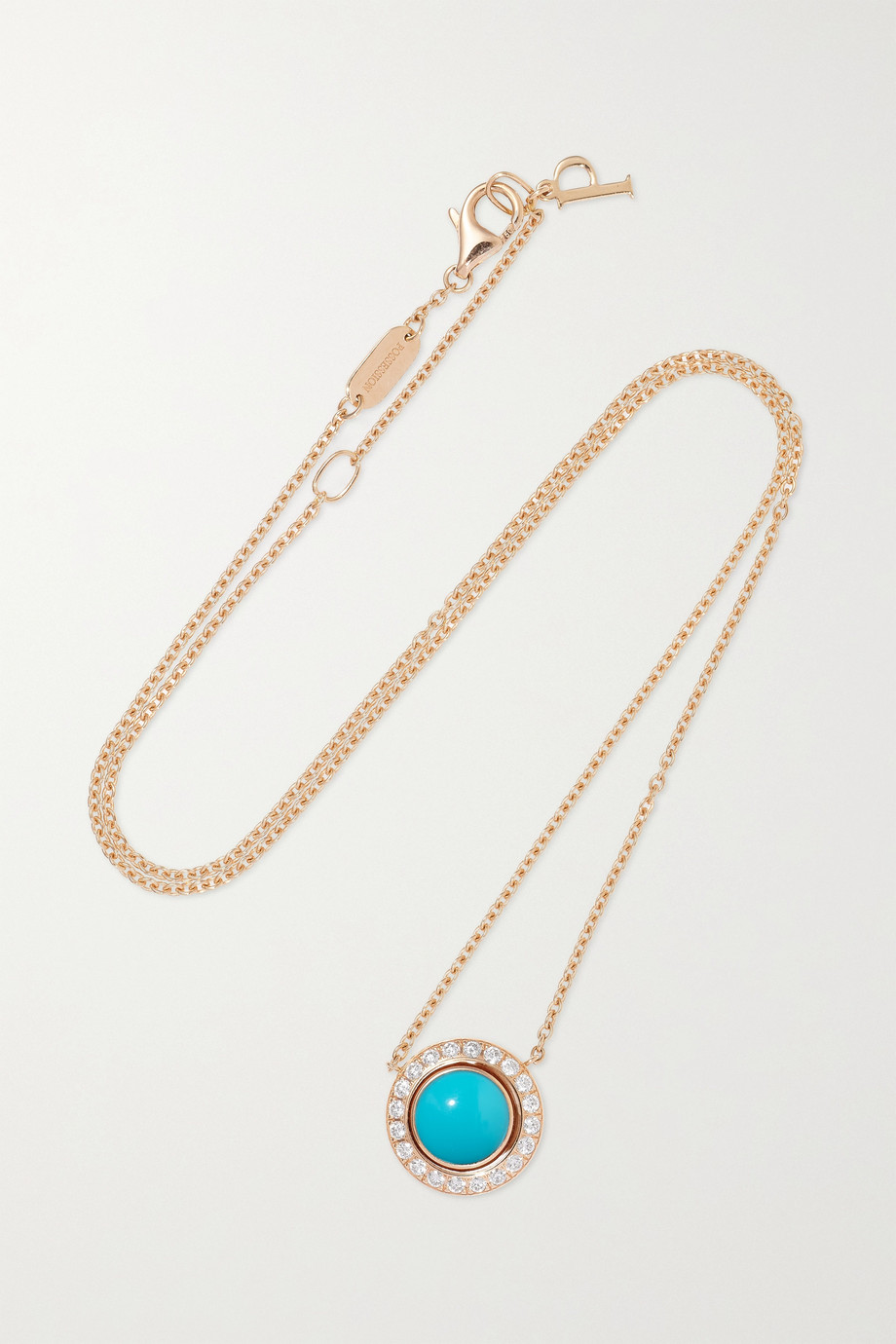 PIAGET Possession 18-karat rose gold, turquoise and diamond necklace