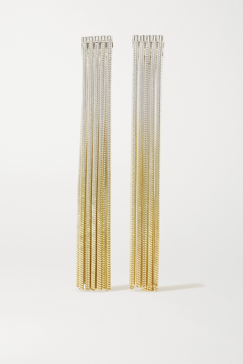 SARAH & SEBASTIAN Feeler gold vermeil and silver earrings
