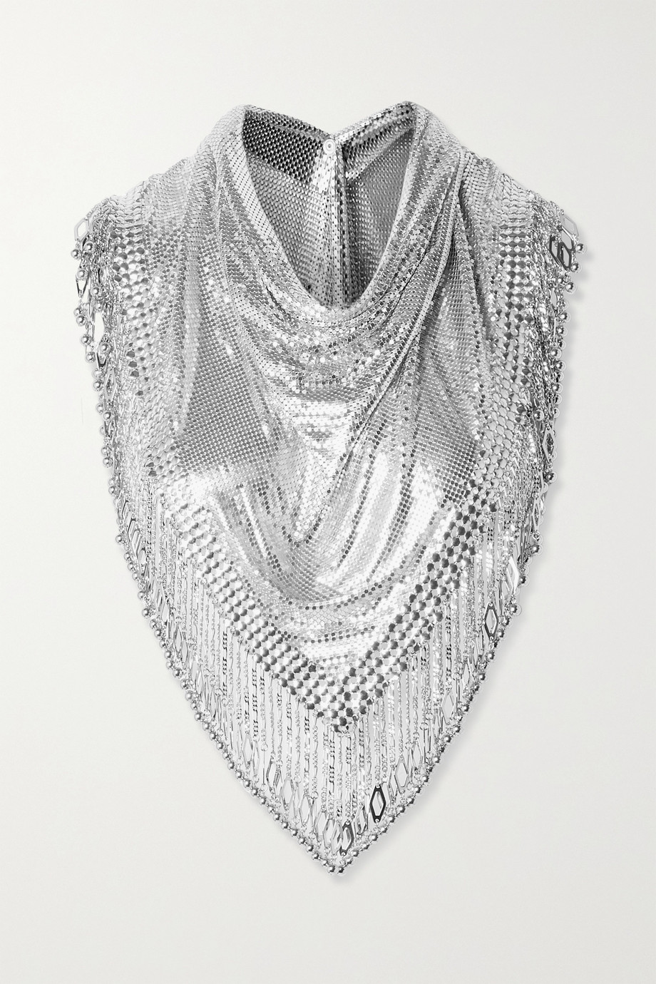 PACO RABANNE Pixel XL fringed chainmail scarf