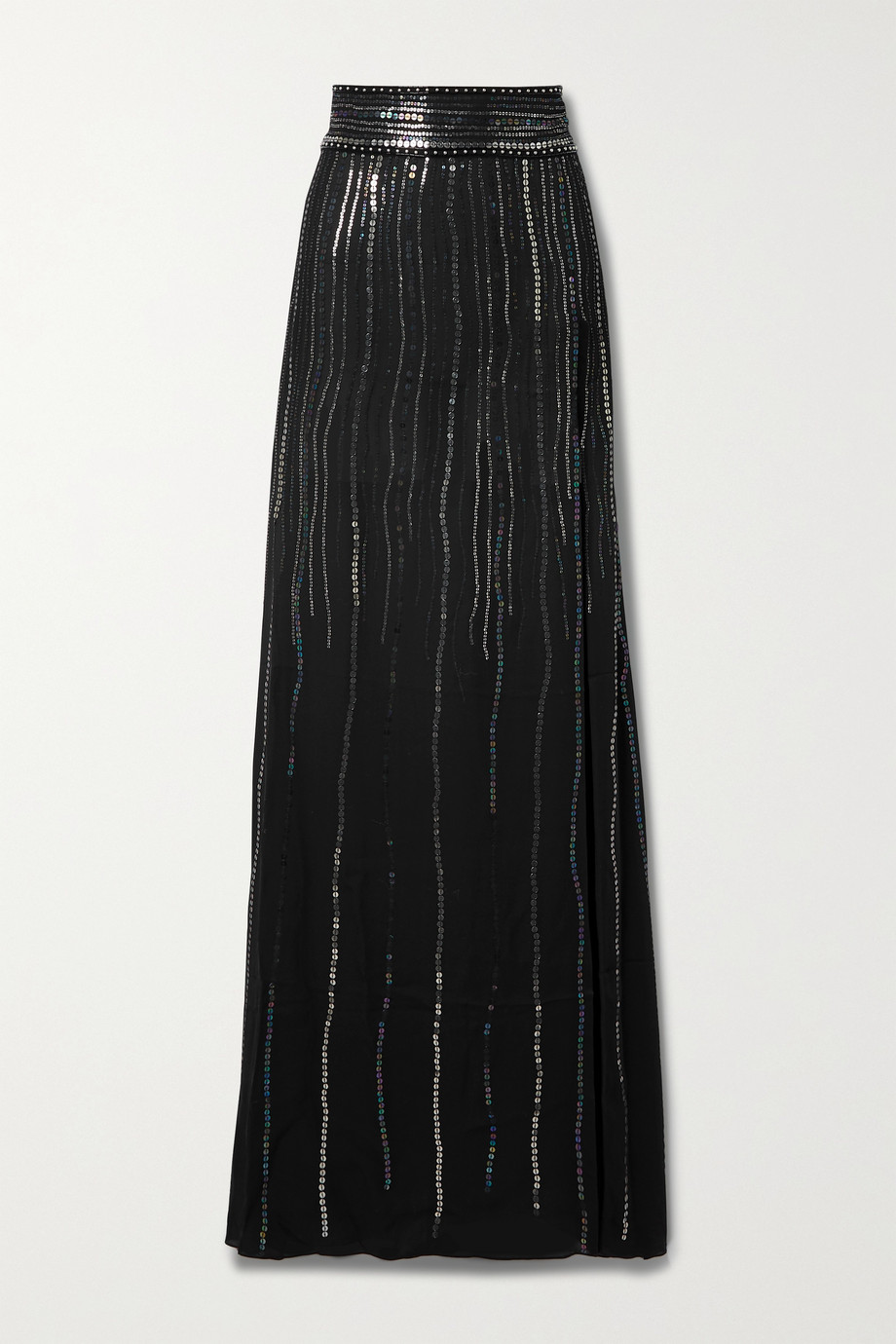 DUNDAS India sequin-embellished silk-georgette maxi skirt
