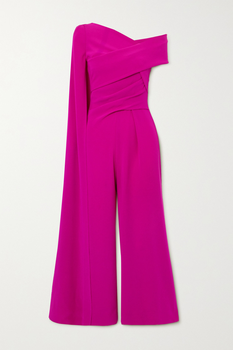 TALBOT RUNHOF Cape-effect gathered crepe jumpsuit