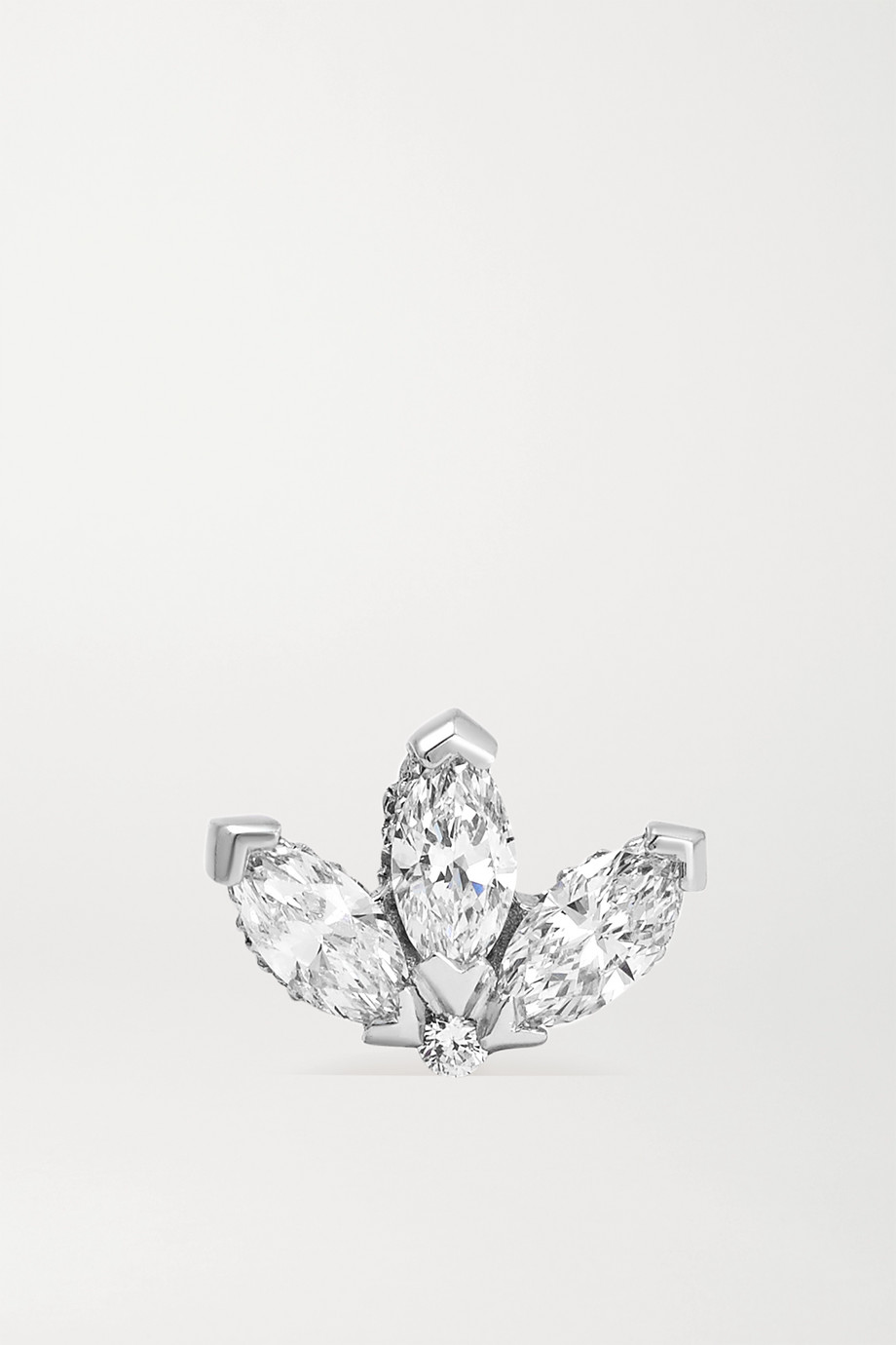 MARIA TASH Lotus 18-karat white gold diamond earring