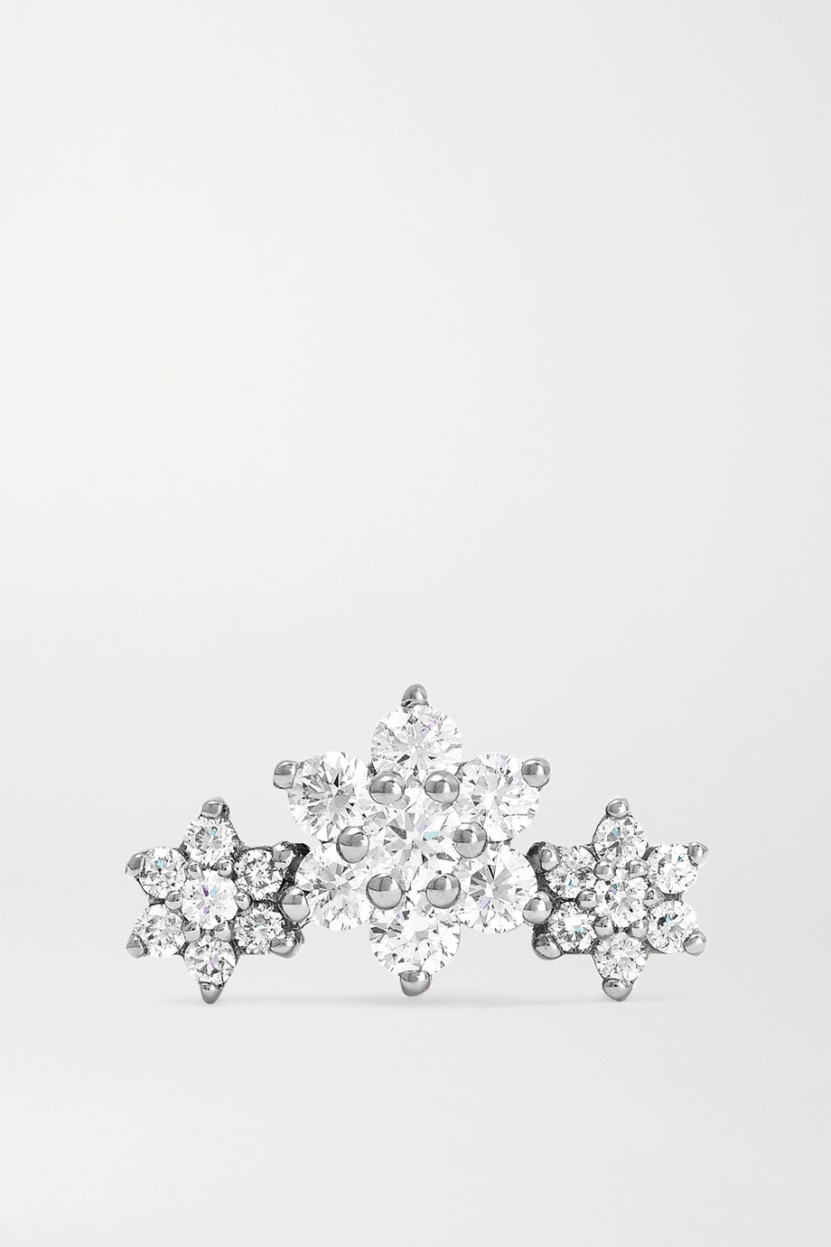 MARIA TASH Flower Garland 18-karat white gold diamond earring