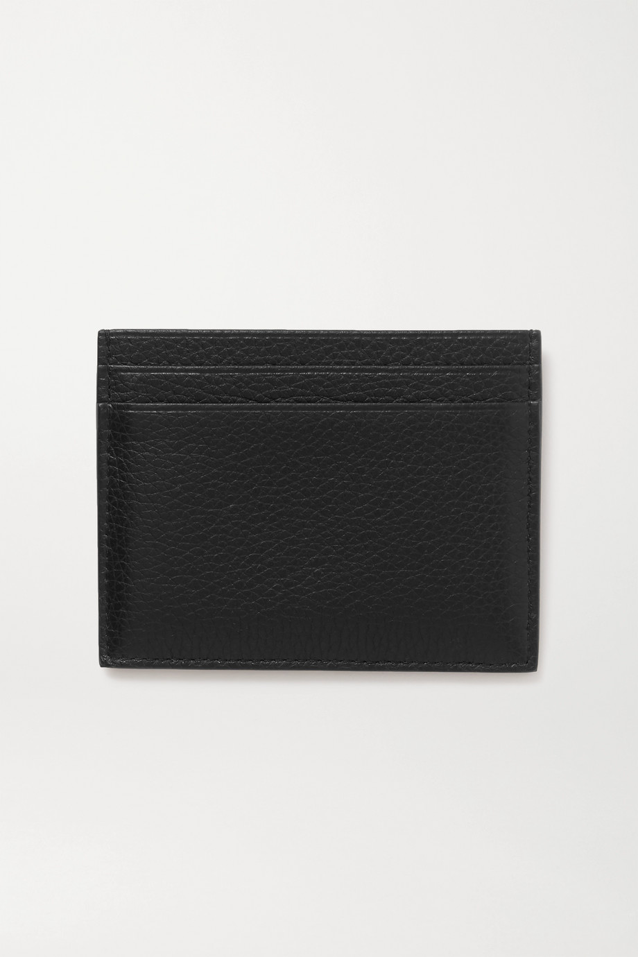 CHRISTIAN LOUBOUTIN Rubber-trimmed textured-leather cardholder
