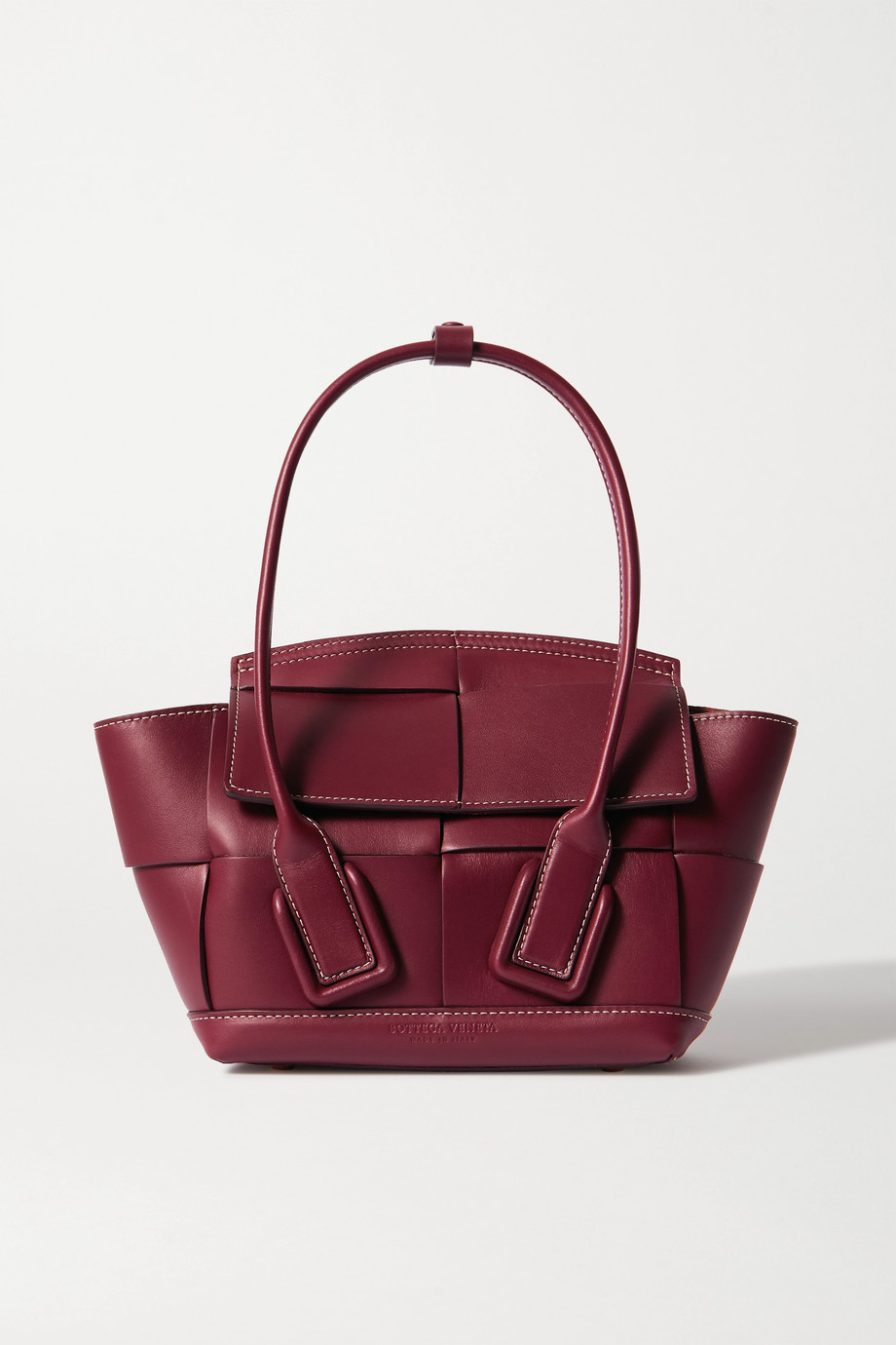 BOTTEGA VENETA Arco mini intrecciato leather tote