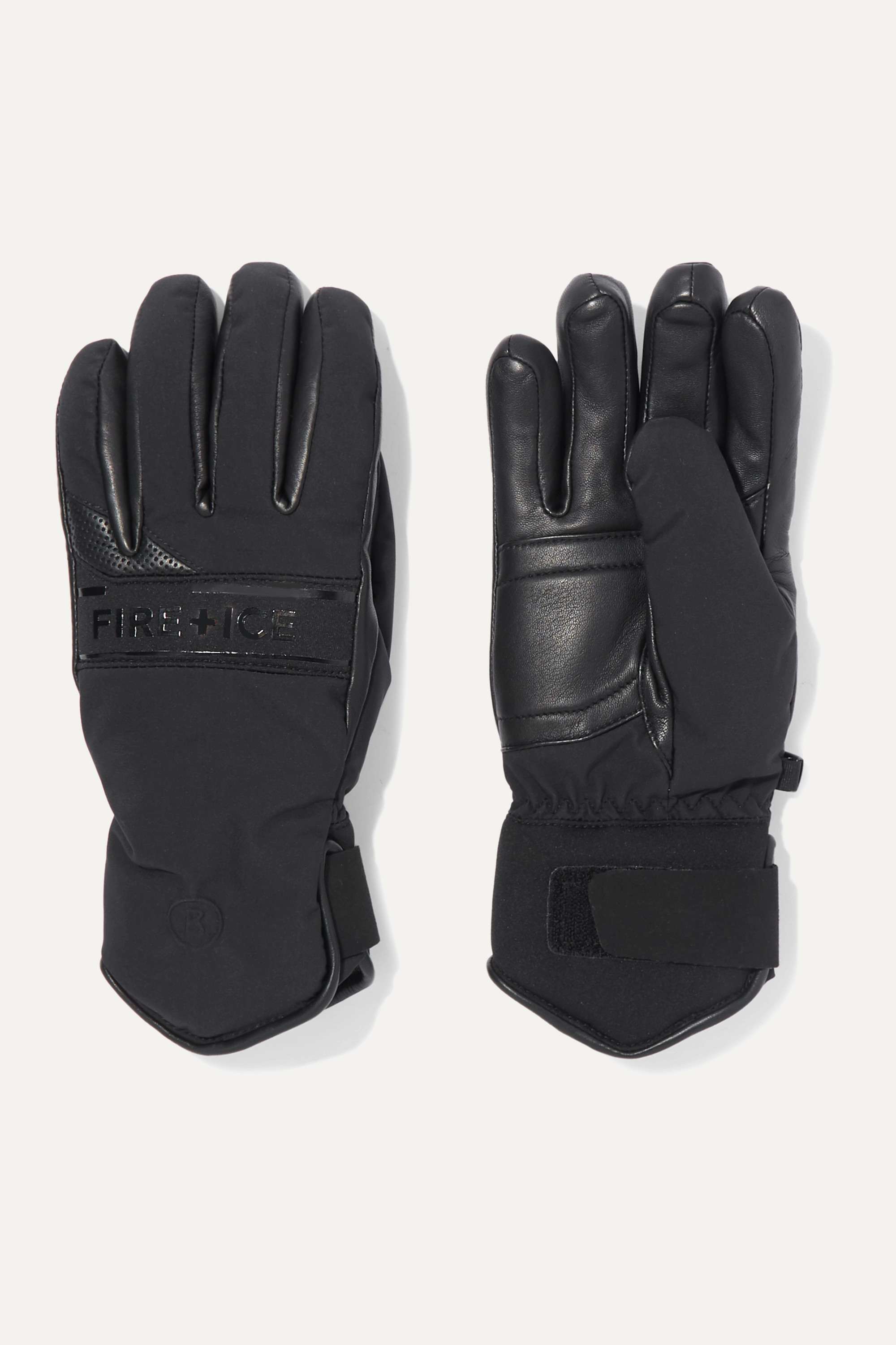 BOGNER FIRE+ICE Isa padded leather and shell ski gloves