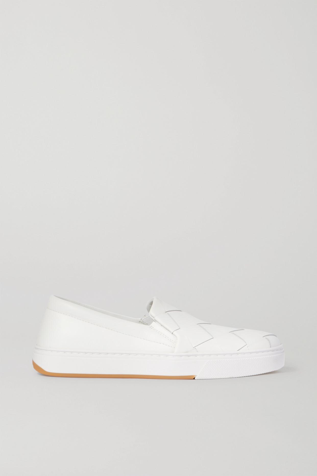 BOTTEGA VENETA - Speedster Intrecciato 皮革套穿款运动鞋 - 白色 - IT37.5