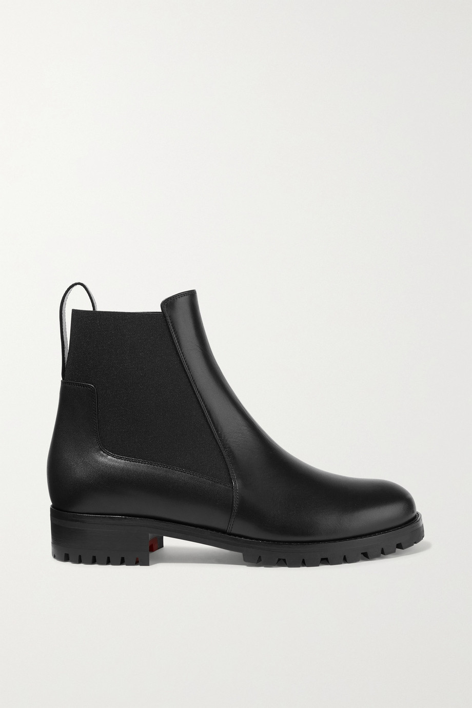 CHRISTIAN LOUBOUTIN Machcroche leather Chelsea boots