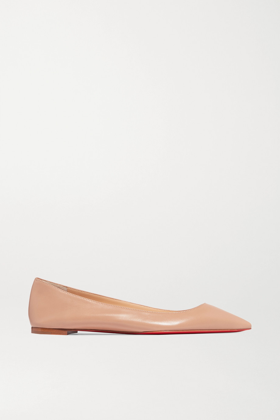 CHRISTIAN LOUBOUTIN Ballalla leather point-toe flats