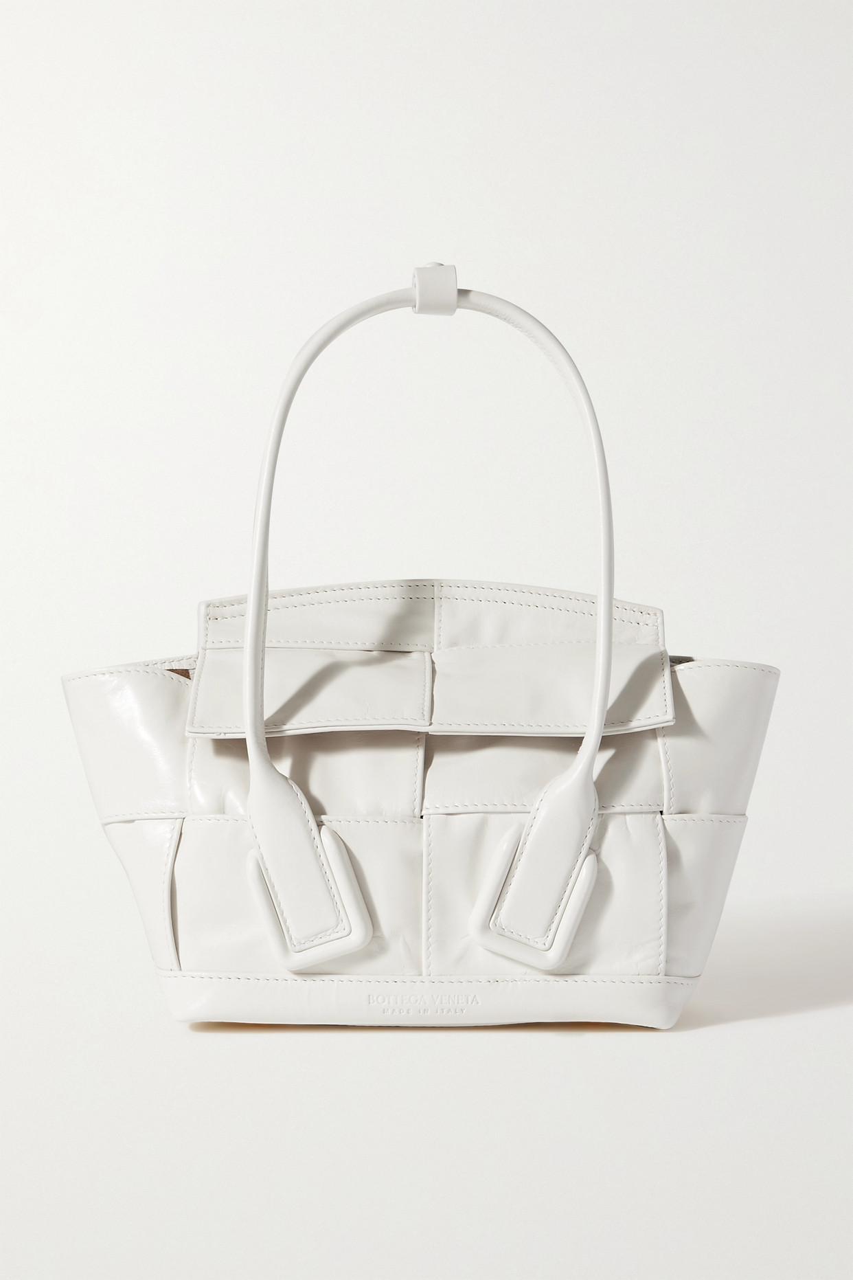 BOTTEGA VENETA - Arco Mini Intrecciato Leather Tote - White - one size