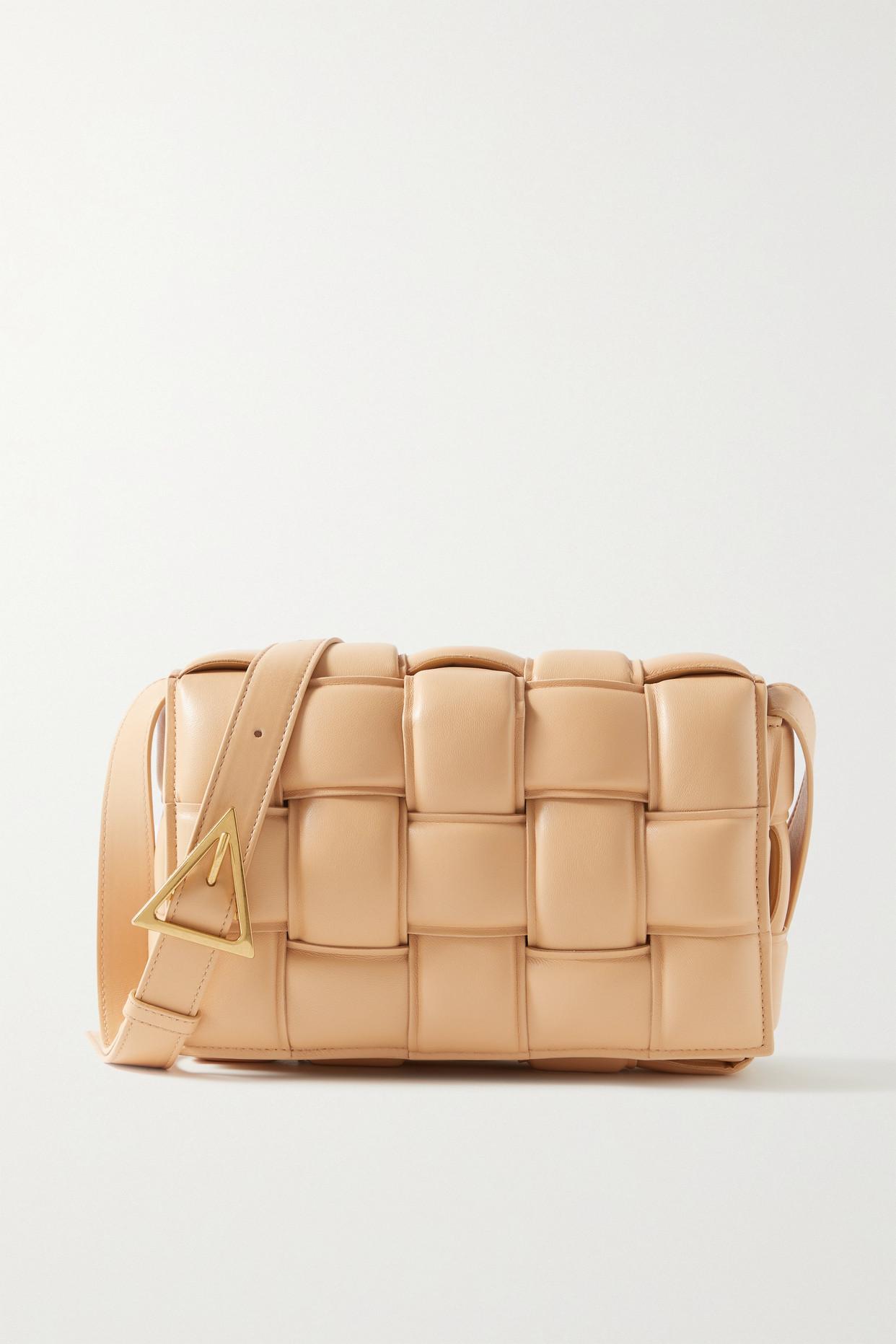 Bottega Veneta Cassette Padded Intrecciato Leather Shoulder Bag In Neutrals
