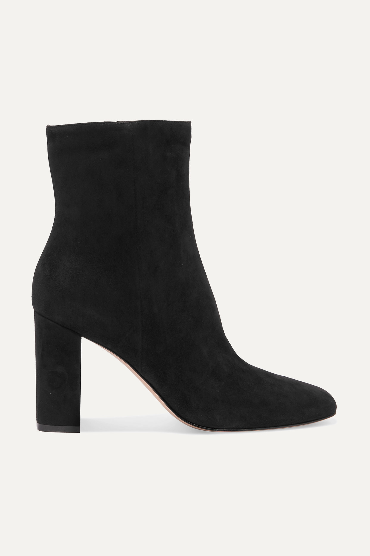 GIANVITO ROSSI - 70 Suede Ankle Boots - Black - IT37