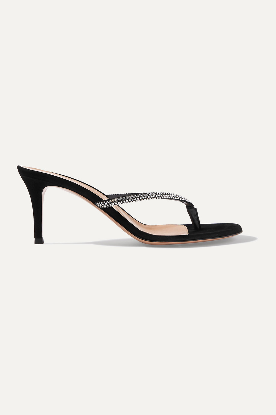 GIANVITO ROSSI Calypso 70 crystal-embellished suede sandals