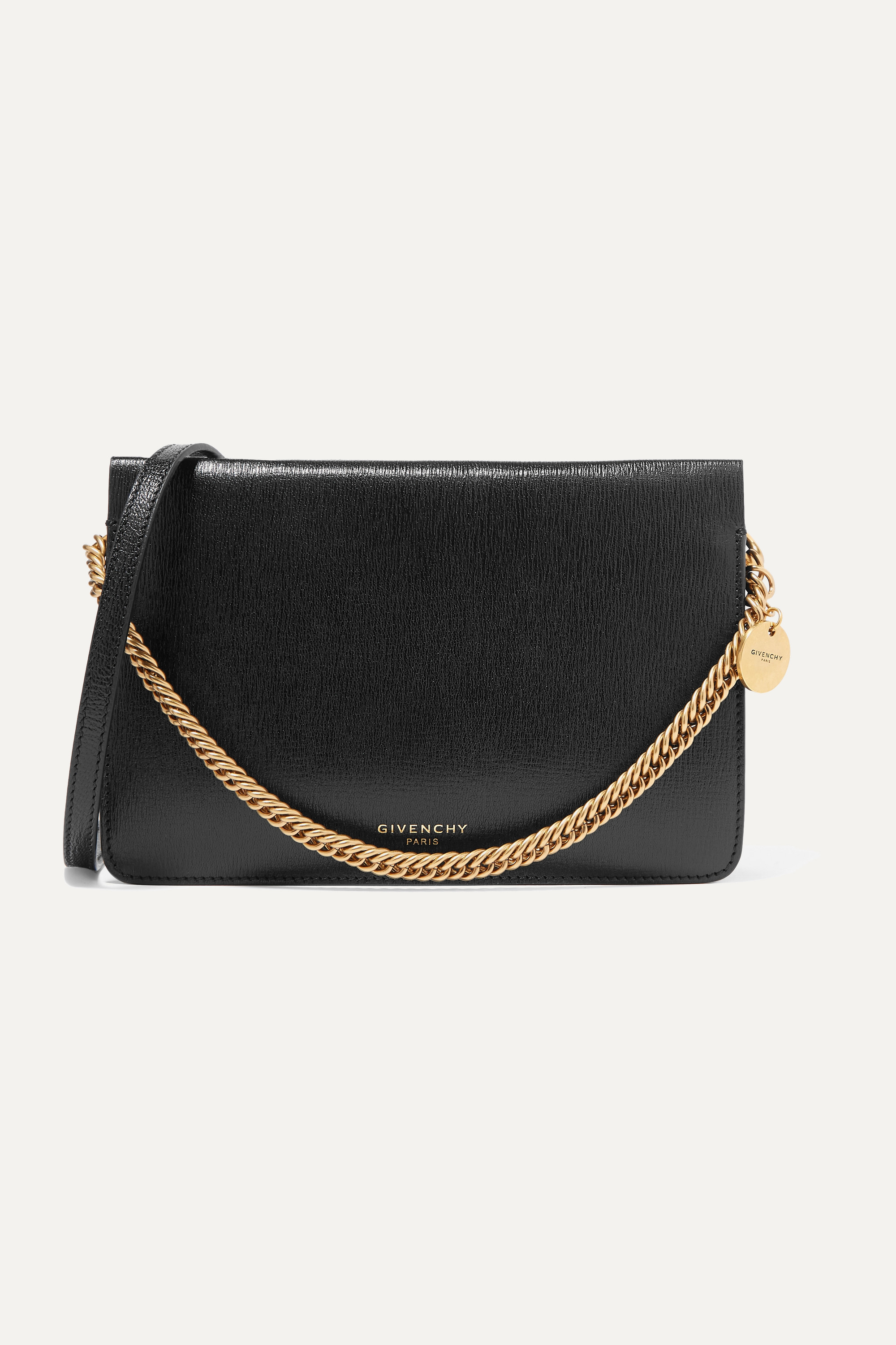 GIVENCHY Cross 3 textured-leather and suede shoulder bag